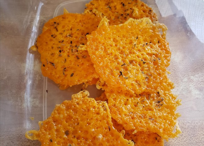 Basic Keto Cheese Crisps