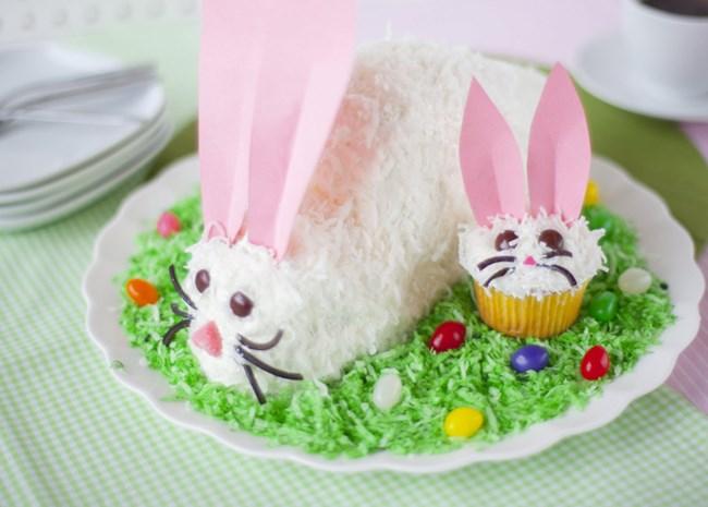 Easter Cake Ideas Lamb Bunny Easter Basket Cakes Allrecipes