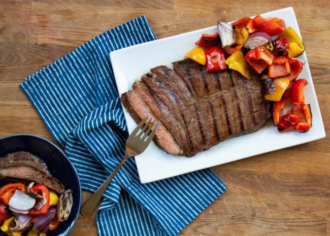 Barbequed Marinated Flank Steak