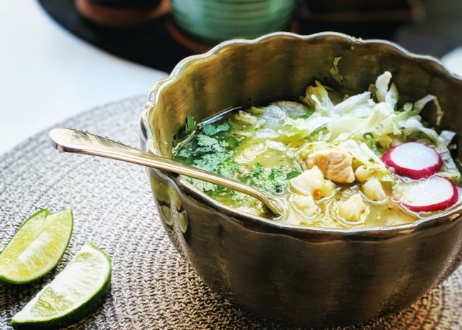 Instant Pot Chicken Posole Verde