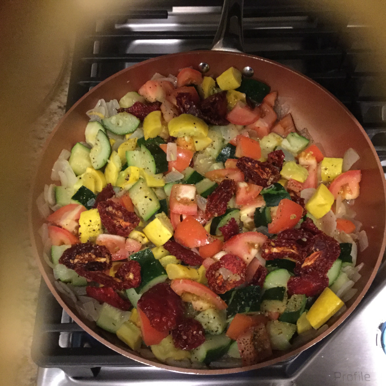 Tomato Zucchini Squash Skillet Holly Shaw