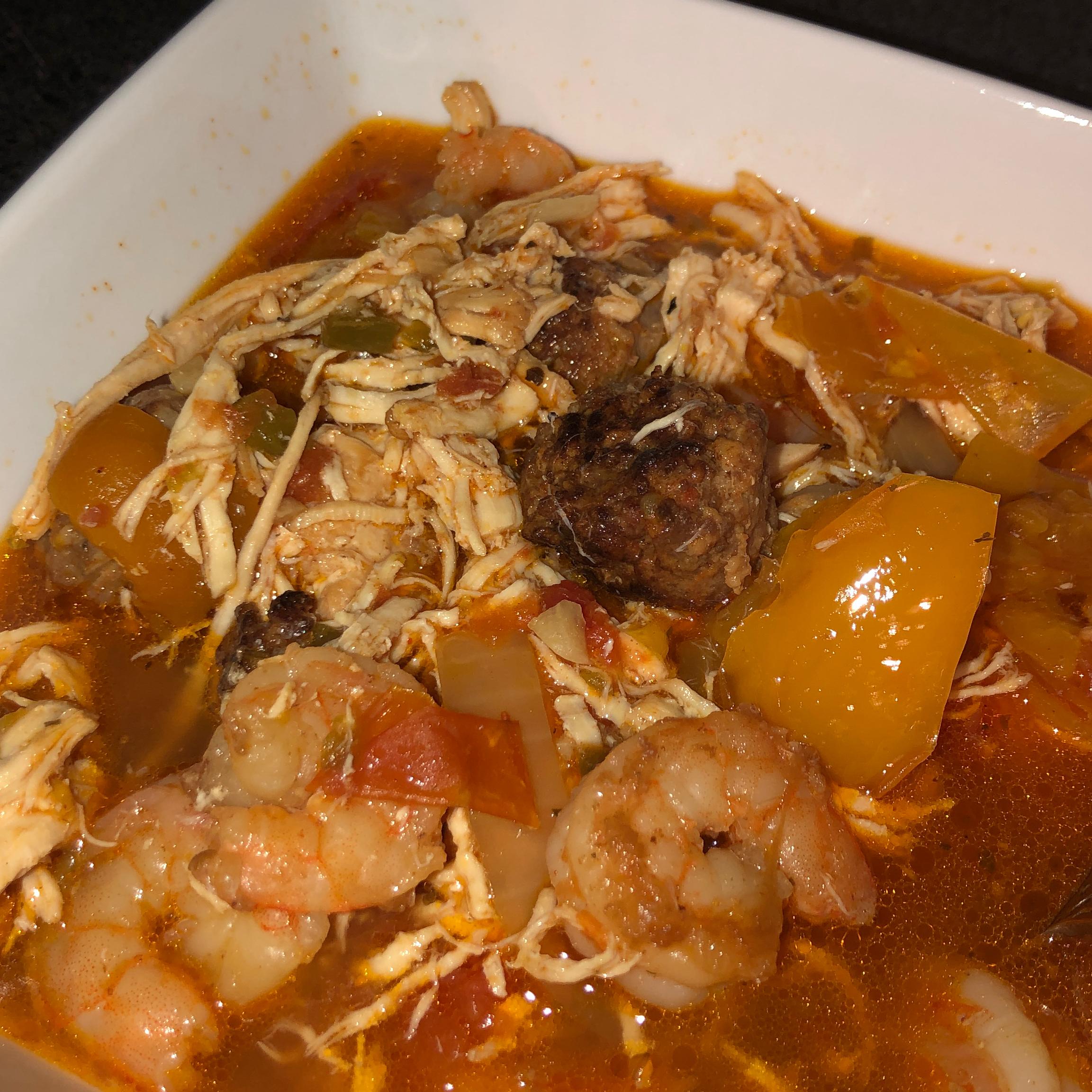 Slow-Cooked Chicken and Sausage Gumbo Kellyann Wilder