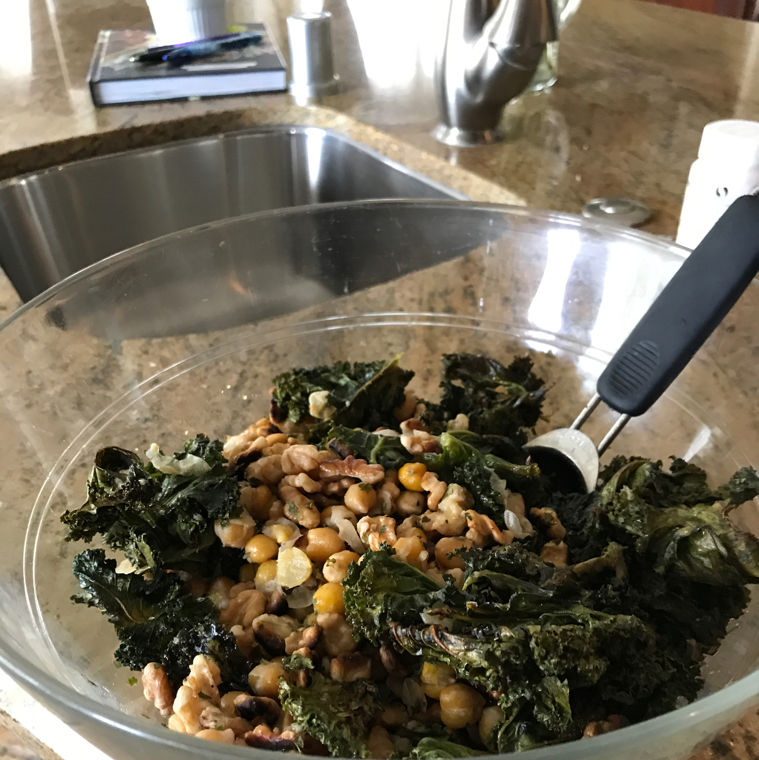 Roasted Kale and Chickpea Salad