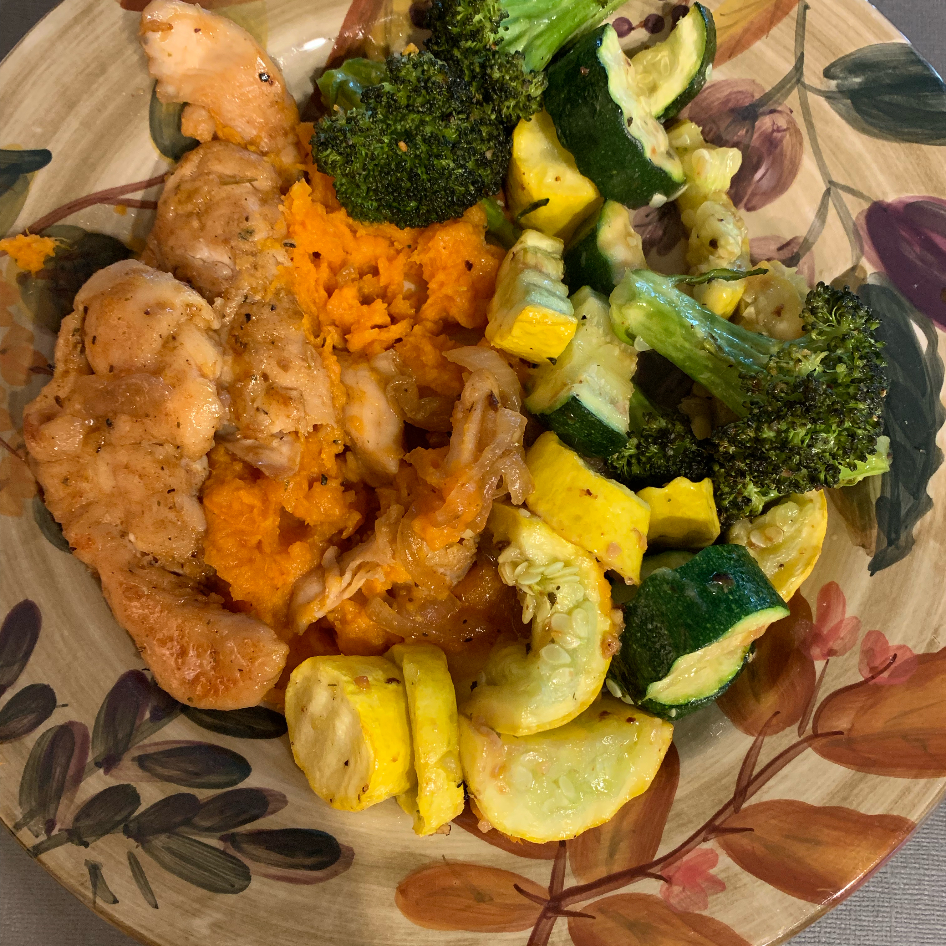 Maple Glazed Chicken with Sweet Potatoes Cheatday