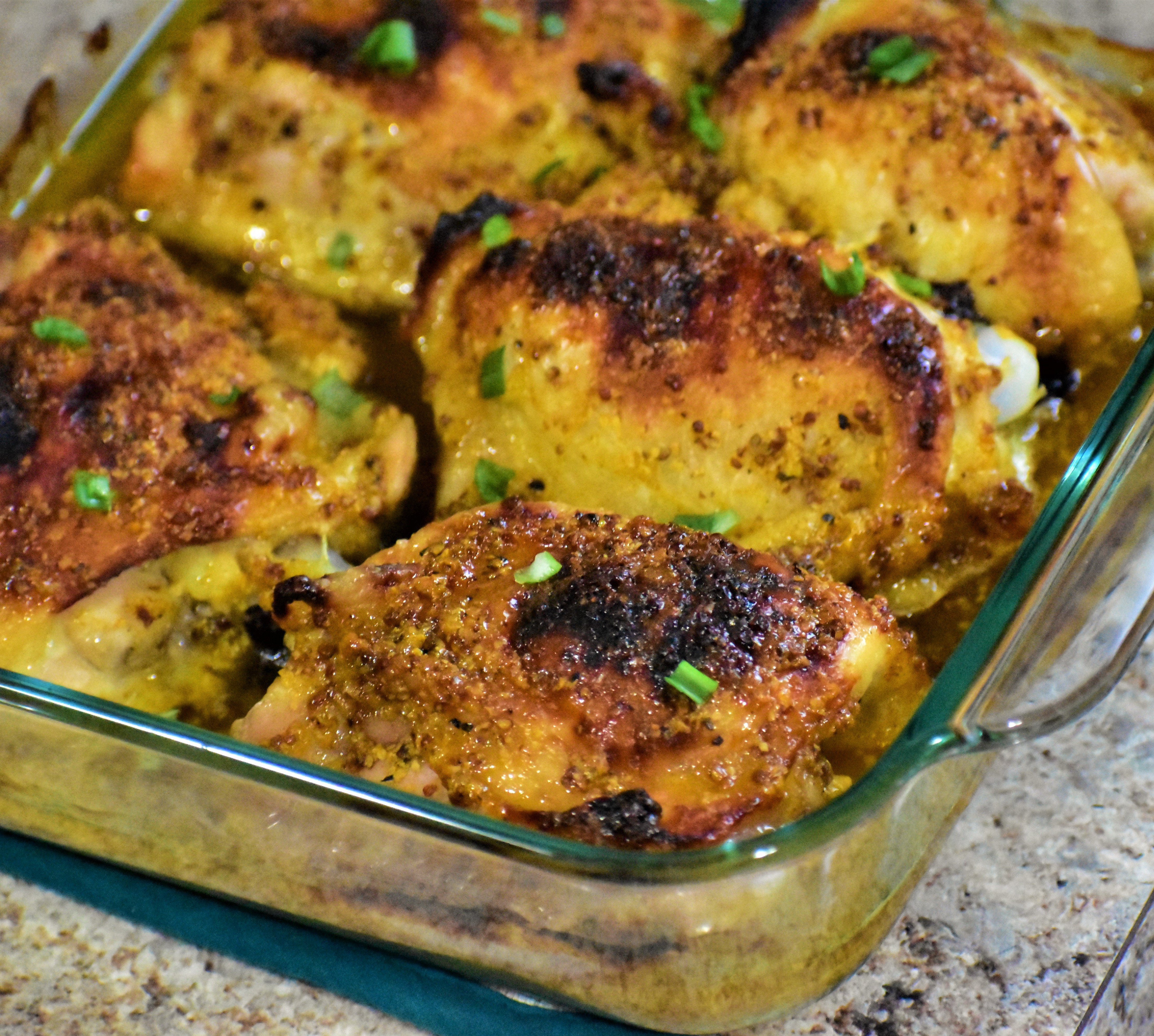 Honey-Mustard and Curry Chicken Thighs
