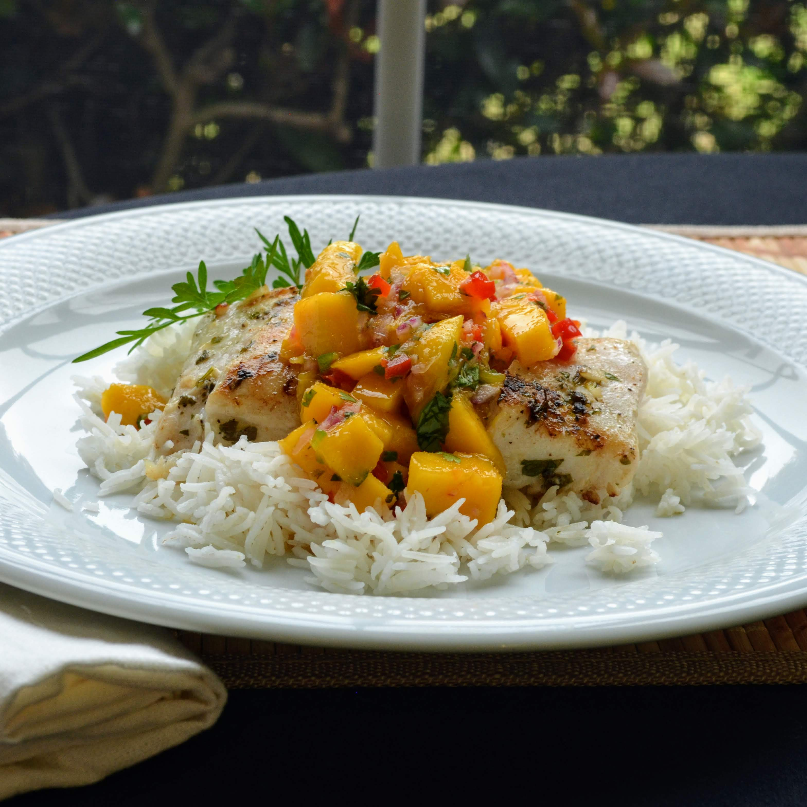 Grilled Tilapia with Mango Salsa image