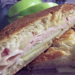Turkey and Brie Croissant with Cranberry-Orange Aioli