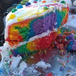 Awe Inspiring Rainbow Layer Cake Allrecipes Funny Birthday Cards Online Elaedamsfinfo