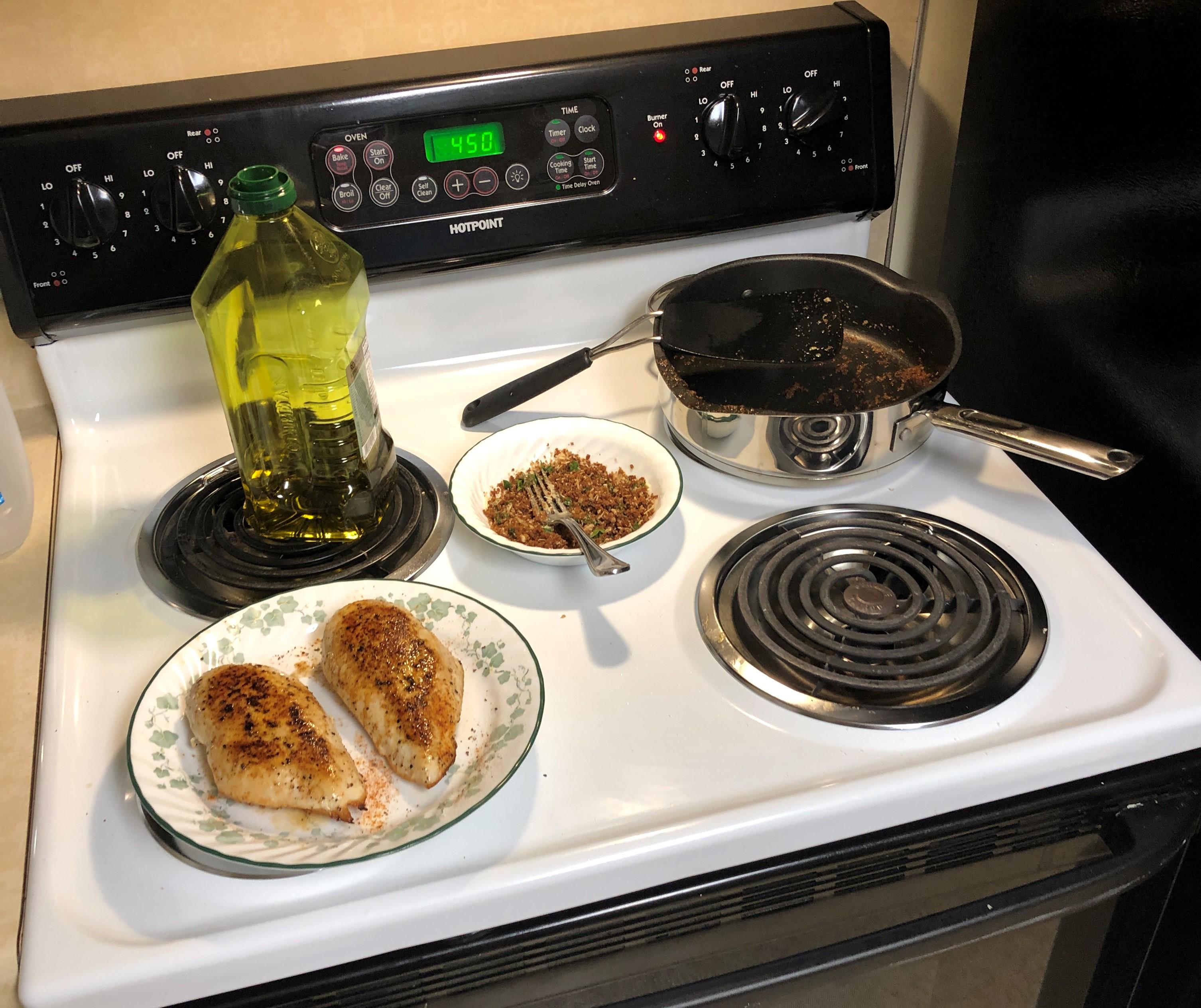 Crispy Garlic Breadcrumb Chicken Jere