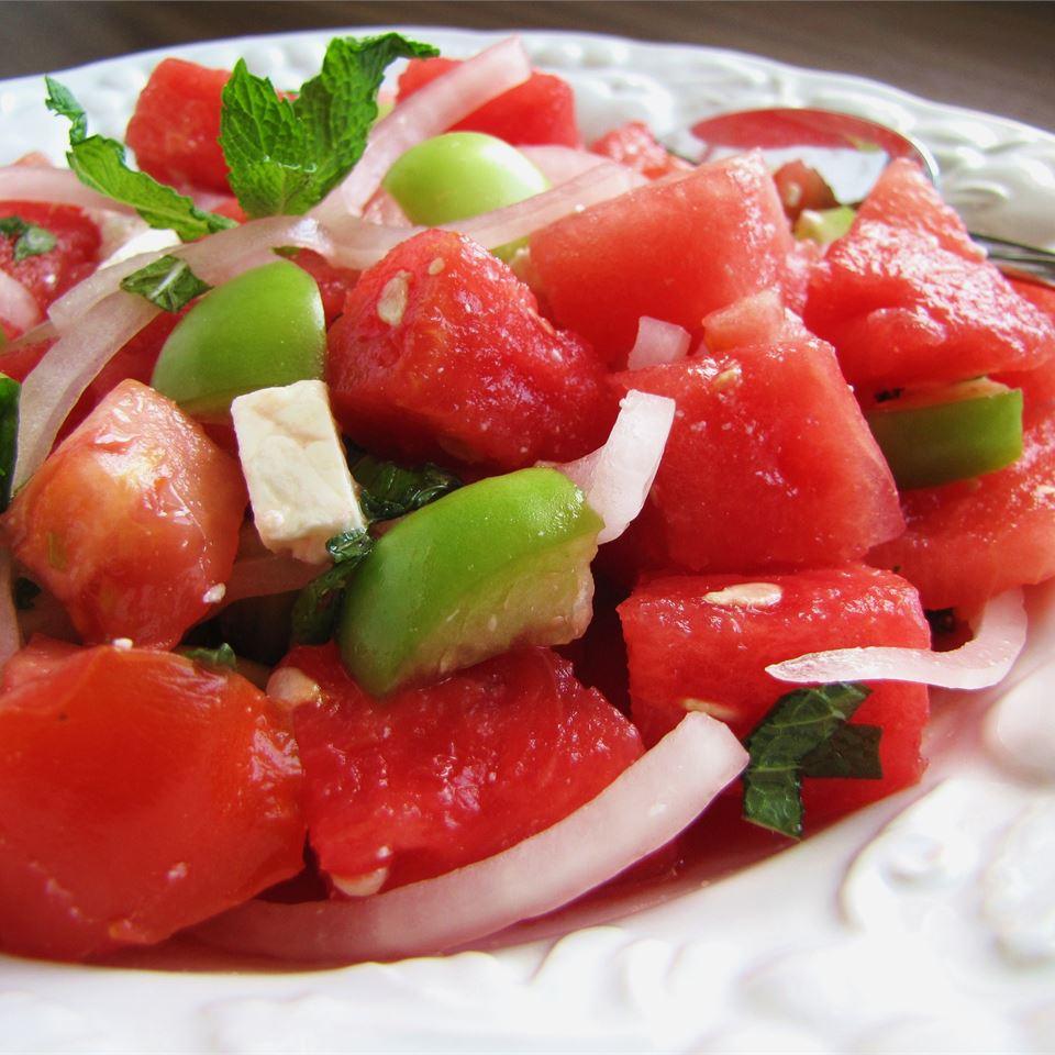 Watermelon and Tomato Feta Salad image