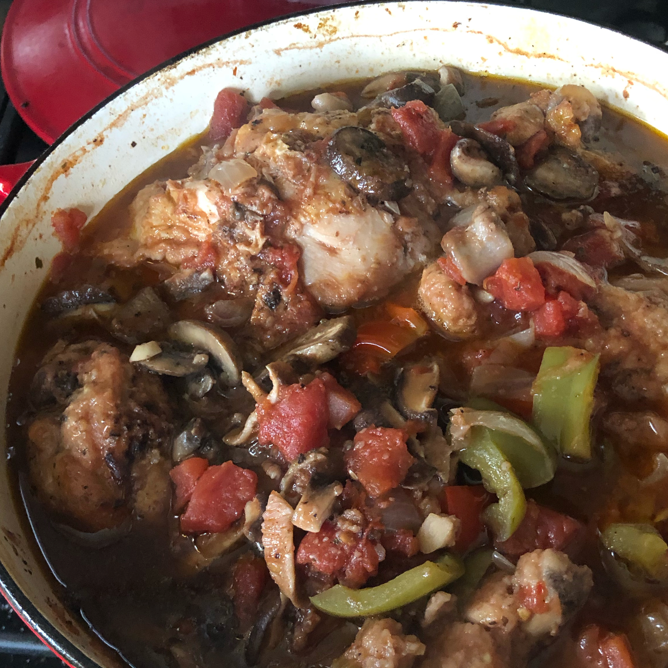 Mom's Chicken Cacciatore Tom Morgan