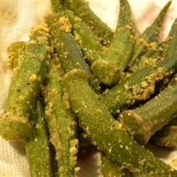 Oven Fried Okra witchywoman