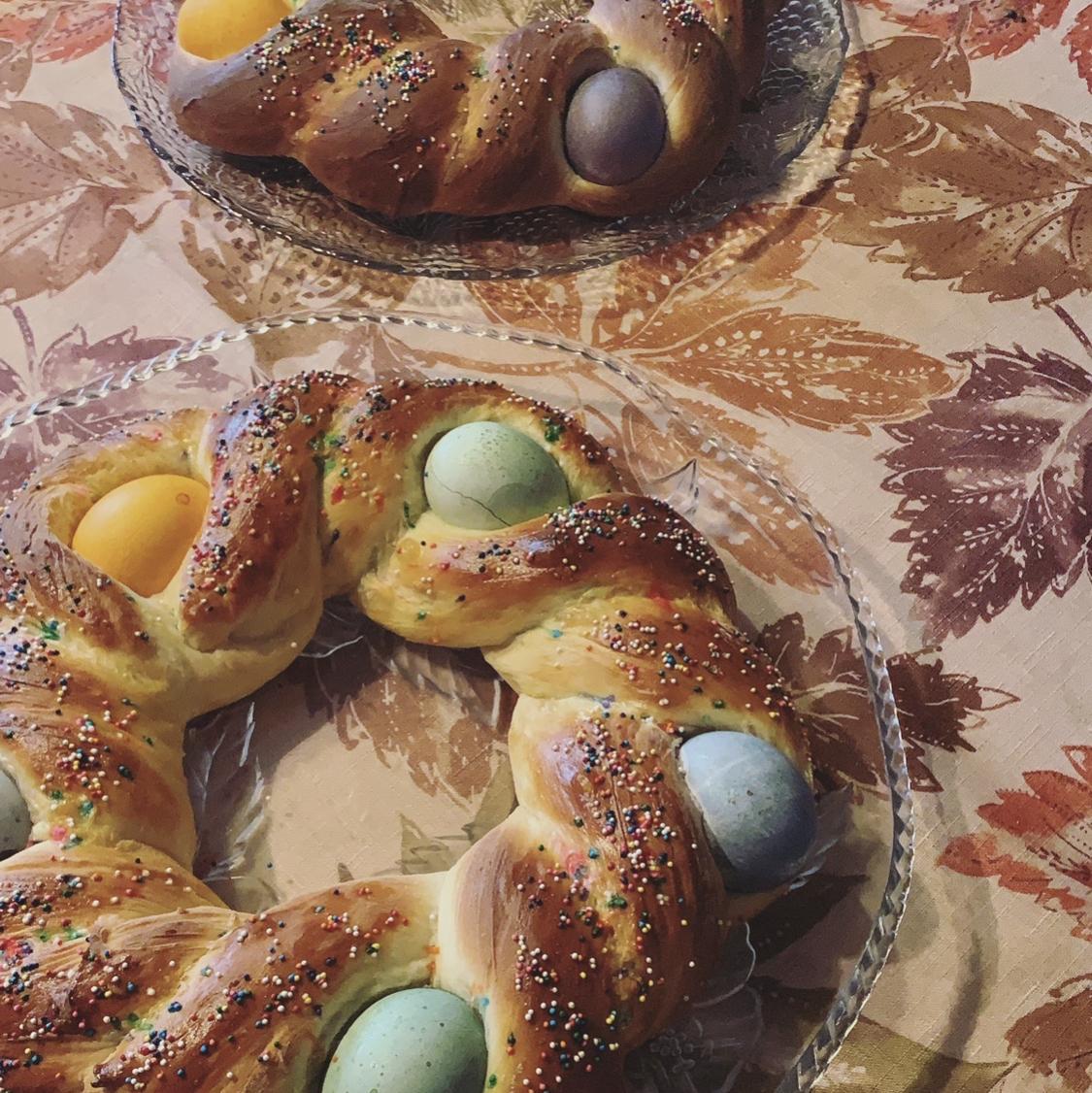 Braided Easter Egg Bread kelseyb