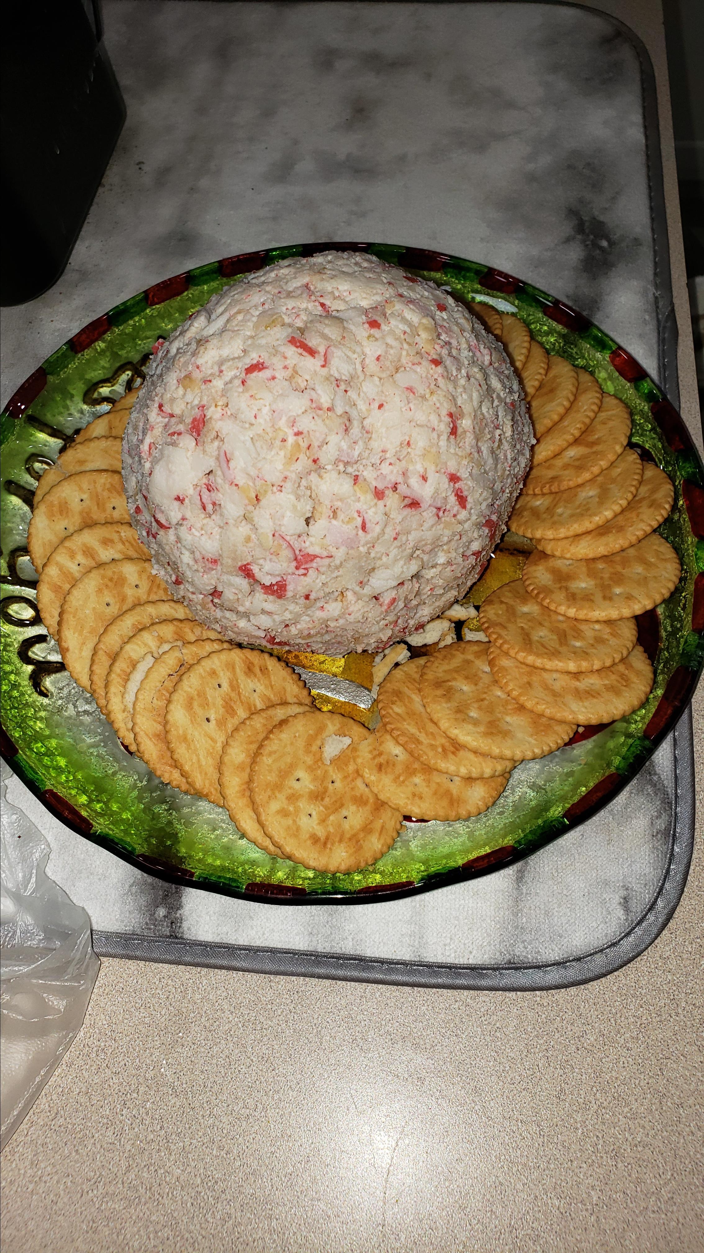 Devil Crab Cream Cheese Ball image