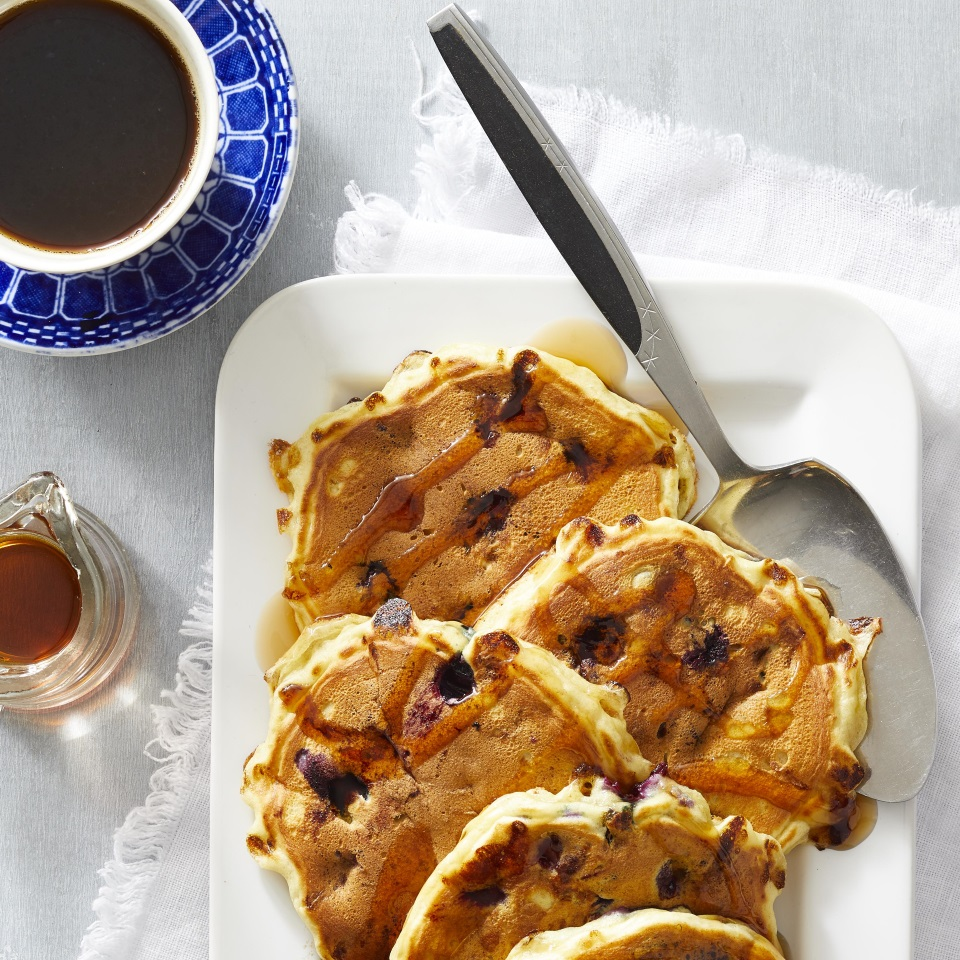 Serve with maple syrup, lemon-mint cream or blueberry syrup.