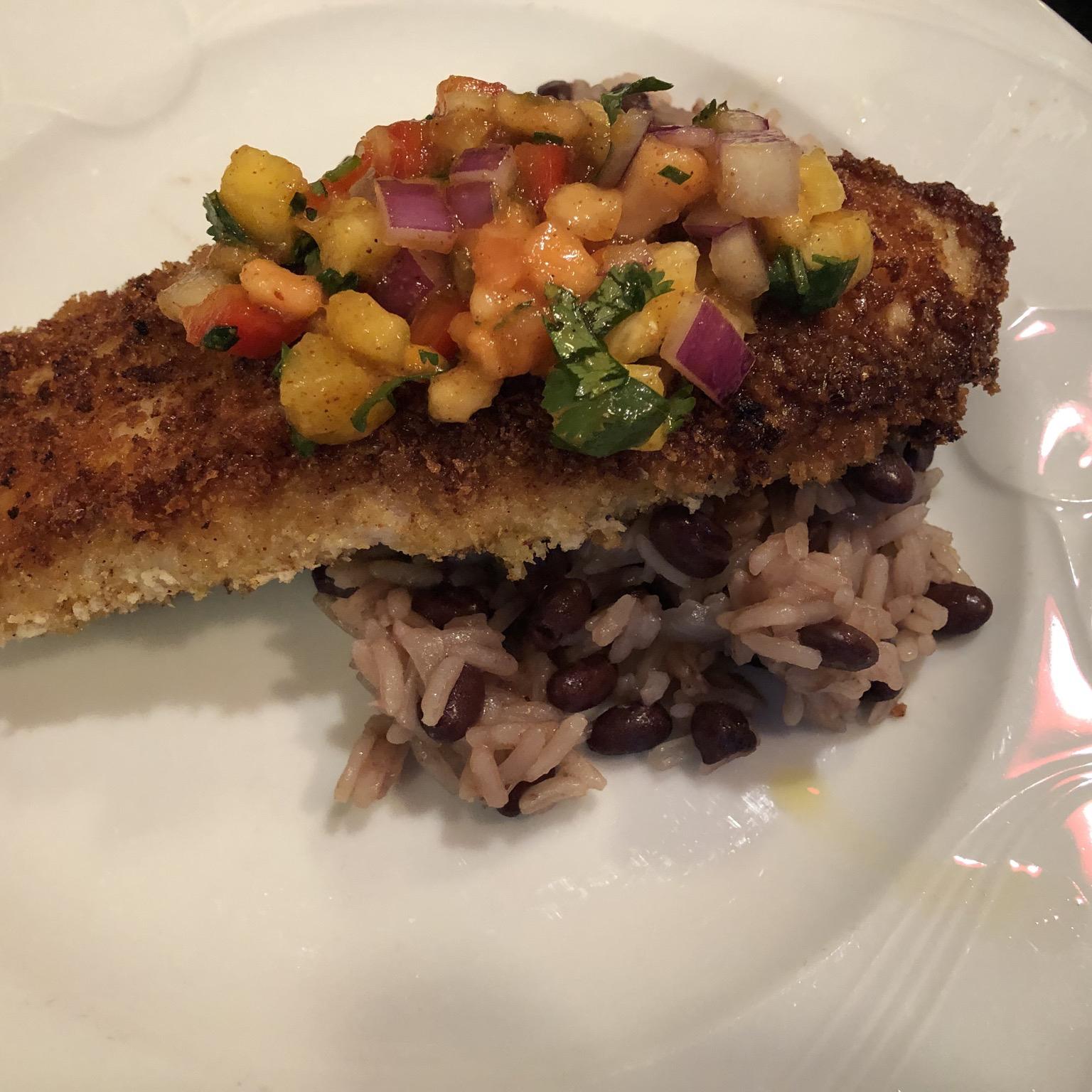 Caribbean Fish With Mango Salsa image