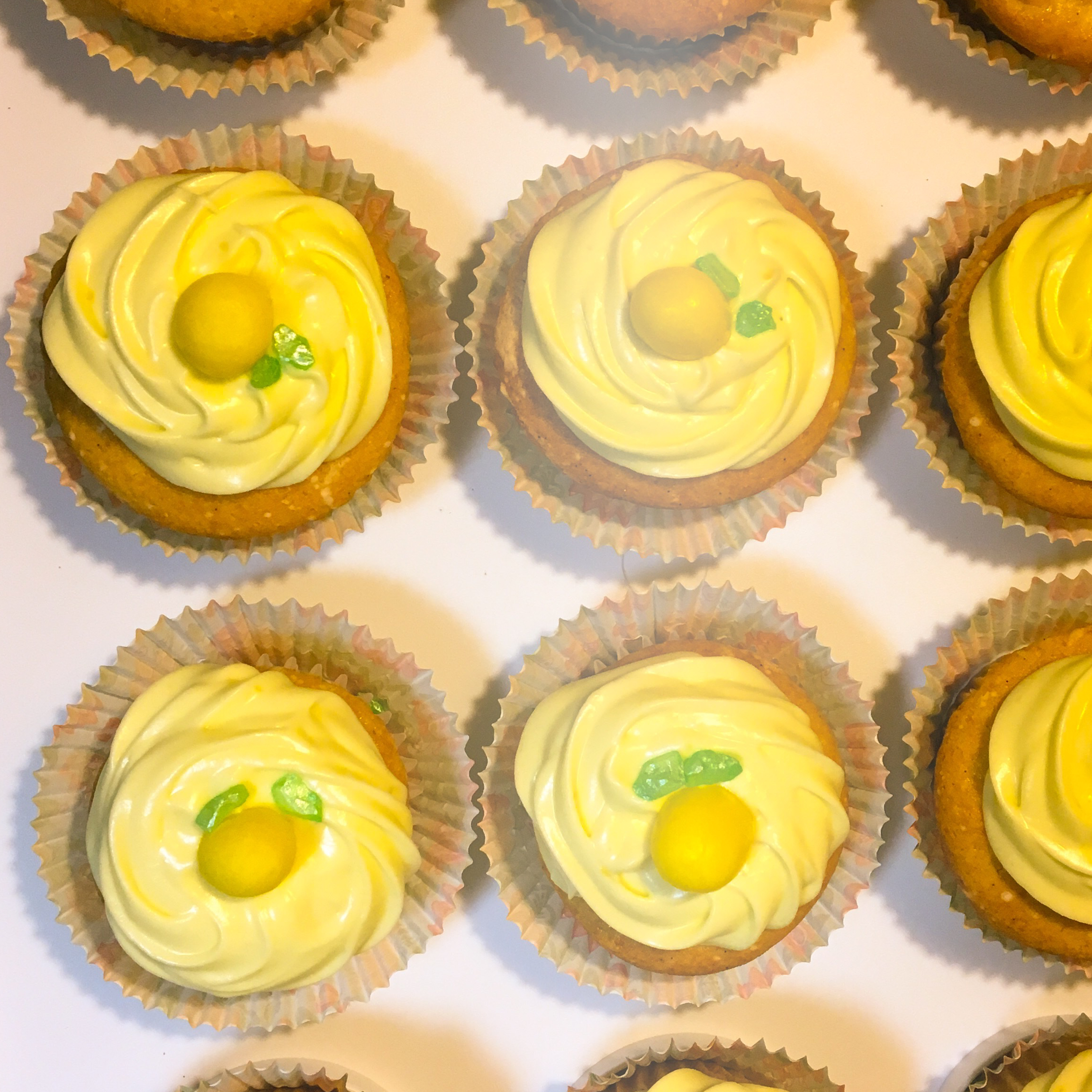 Lemon-Cream Cheese Cupcakes