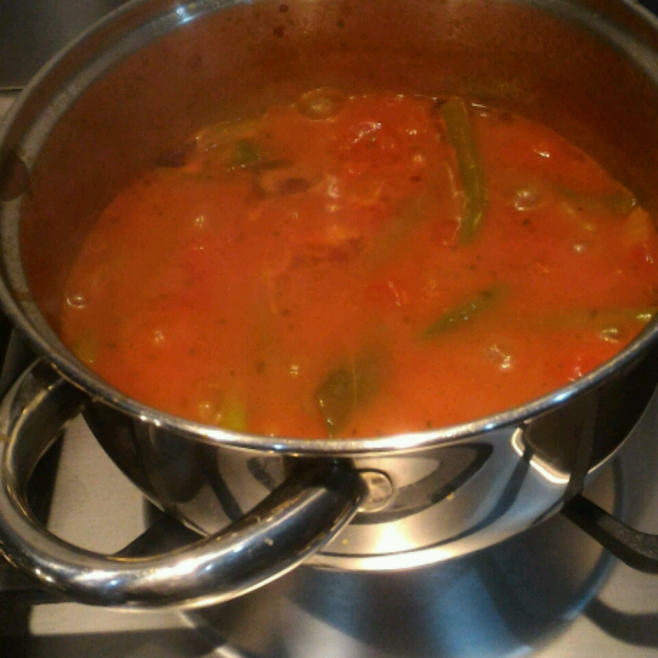 Grecian Green Beans in Tomato Sauce