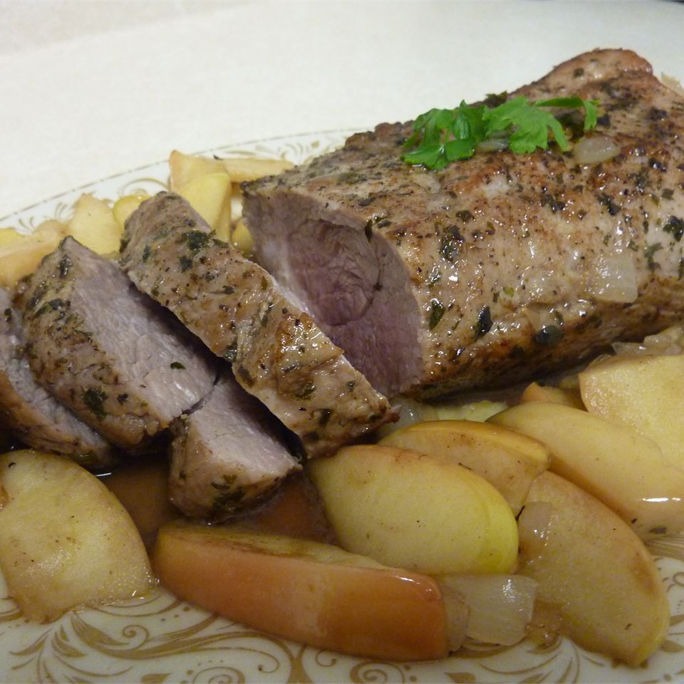 Grilled Pork Tenderloin With Fried Apples Recipe
