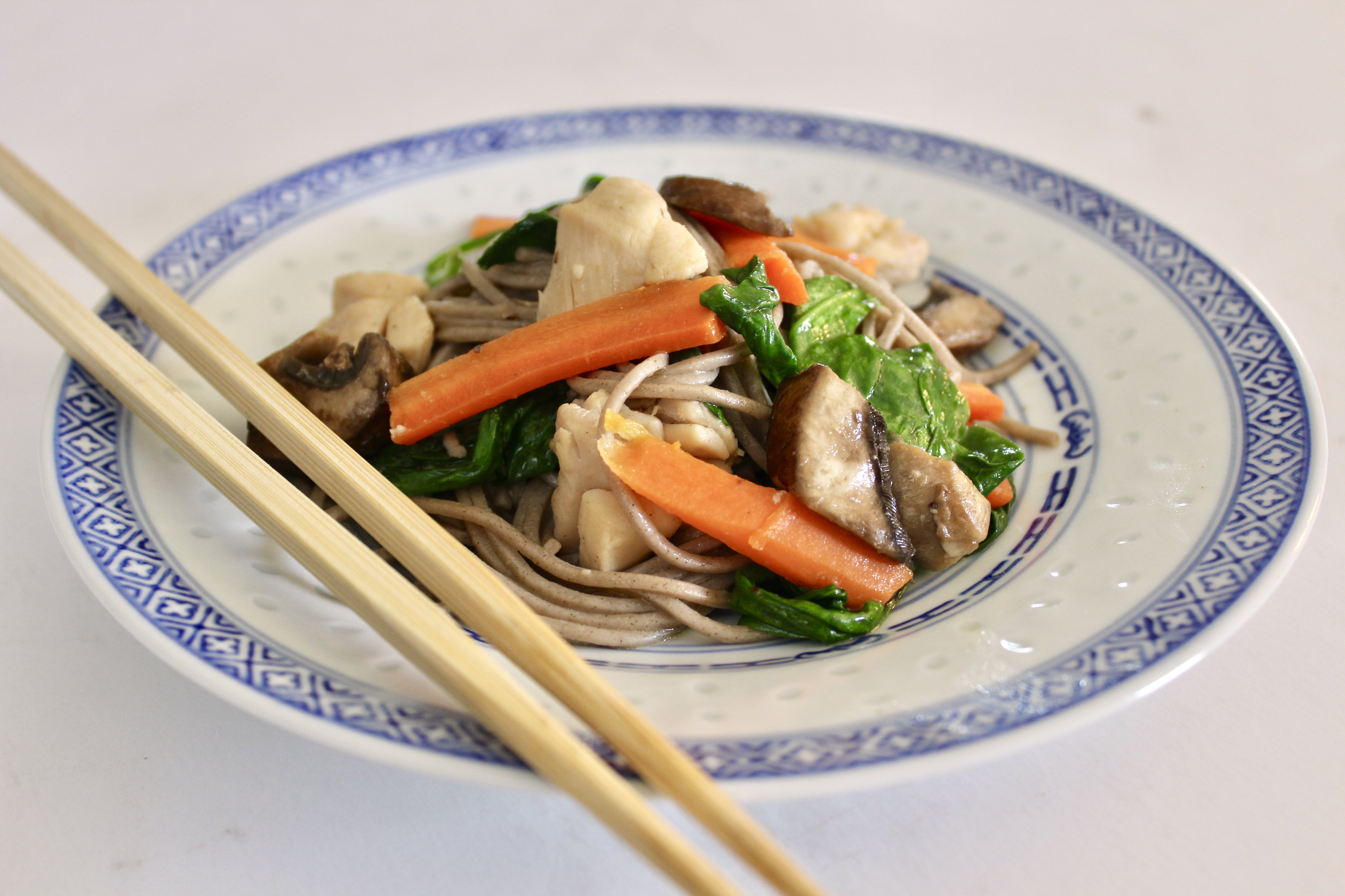 Sesame Soba Noodles with Chicken Thighs and Vegetables Snappycakes