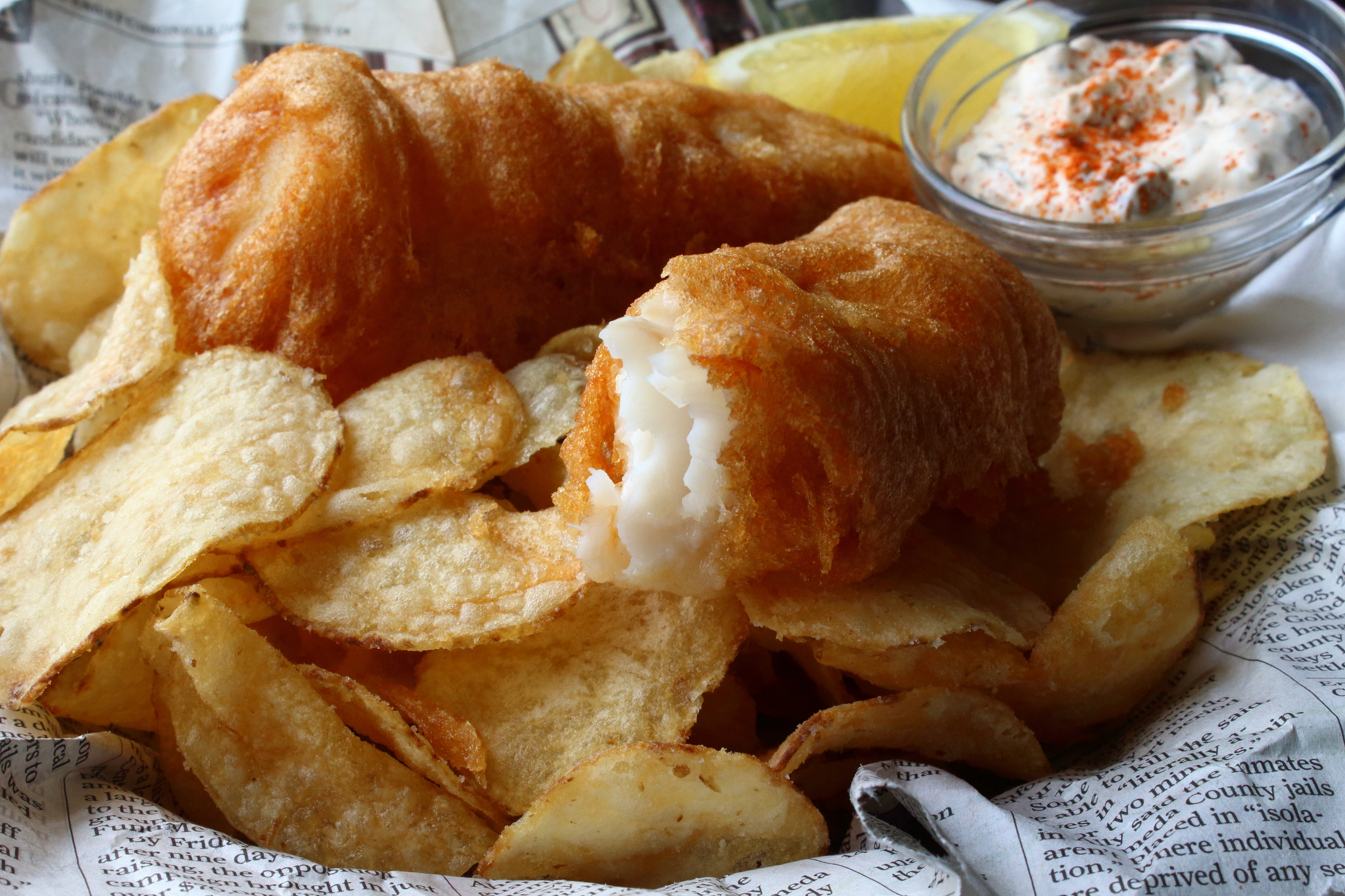 Crispy Beer Batter Fish & Chips