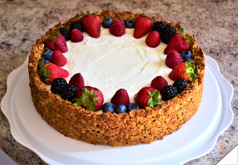 Breakfast Cheesecake with Granola Crust
