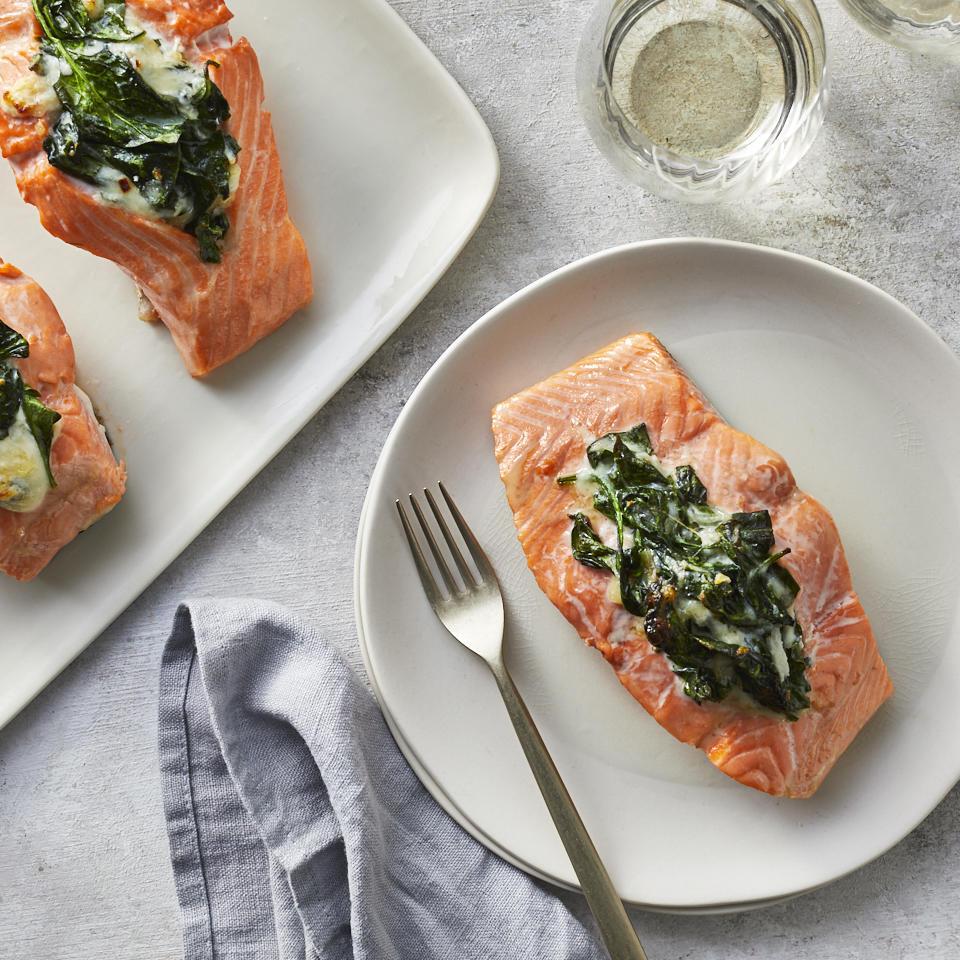 Creamed Spinach-Stuffed Salmon Robby Melvin