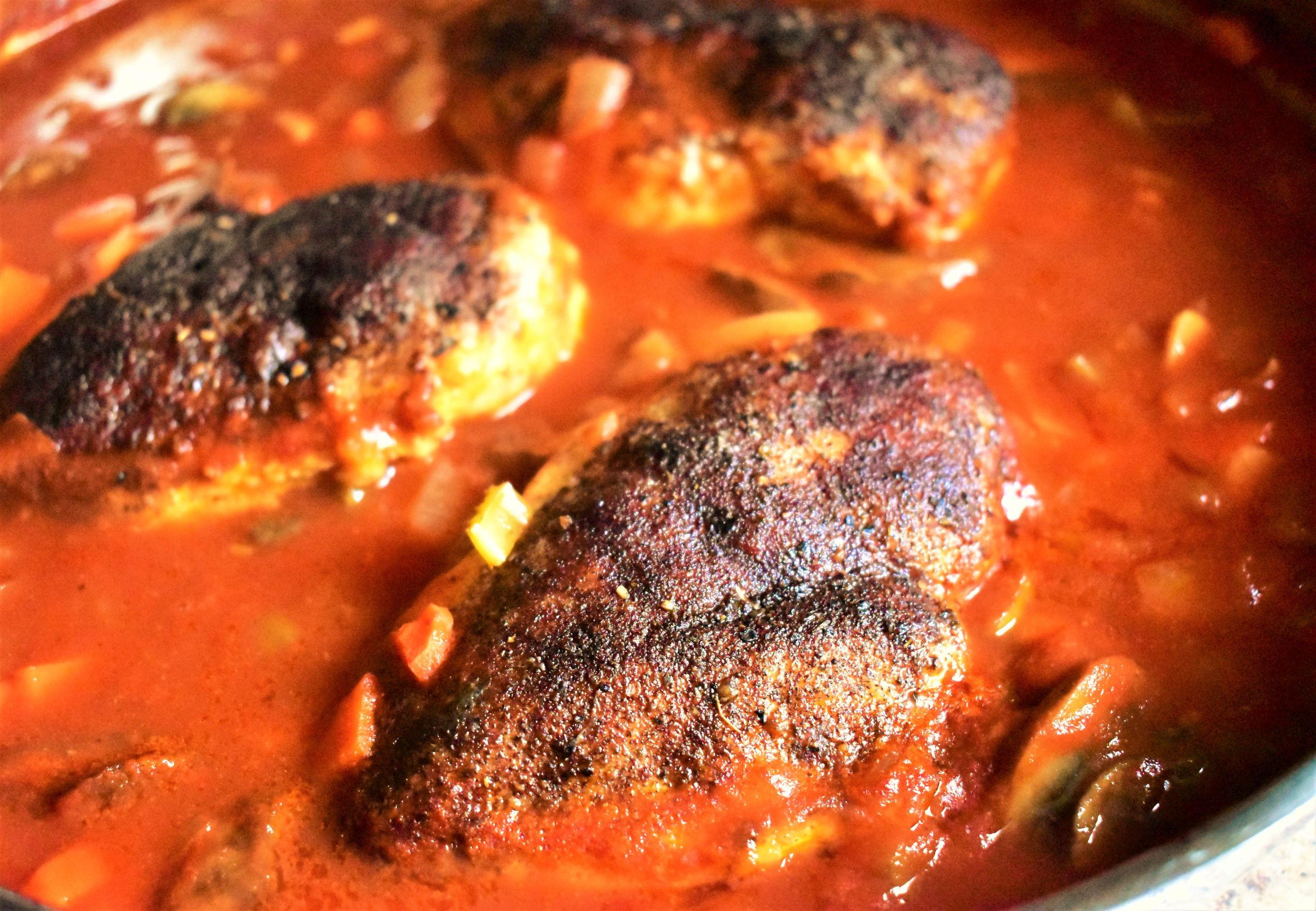 Baked Chicken Breasts in Cinnamon-Tomato Sauce image