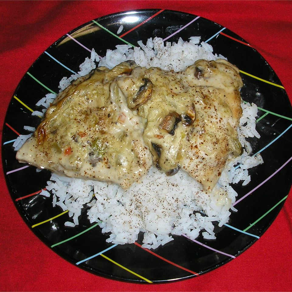 Celery Wine Baked Chicken