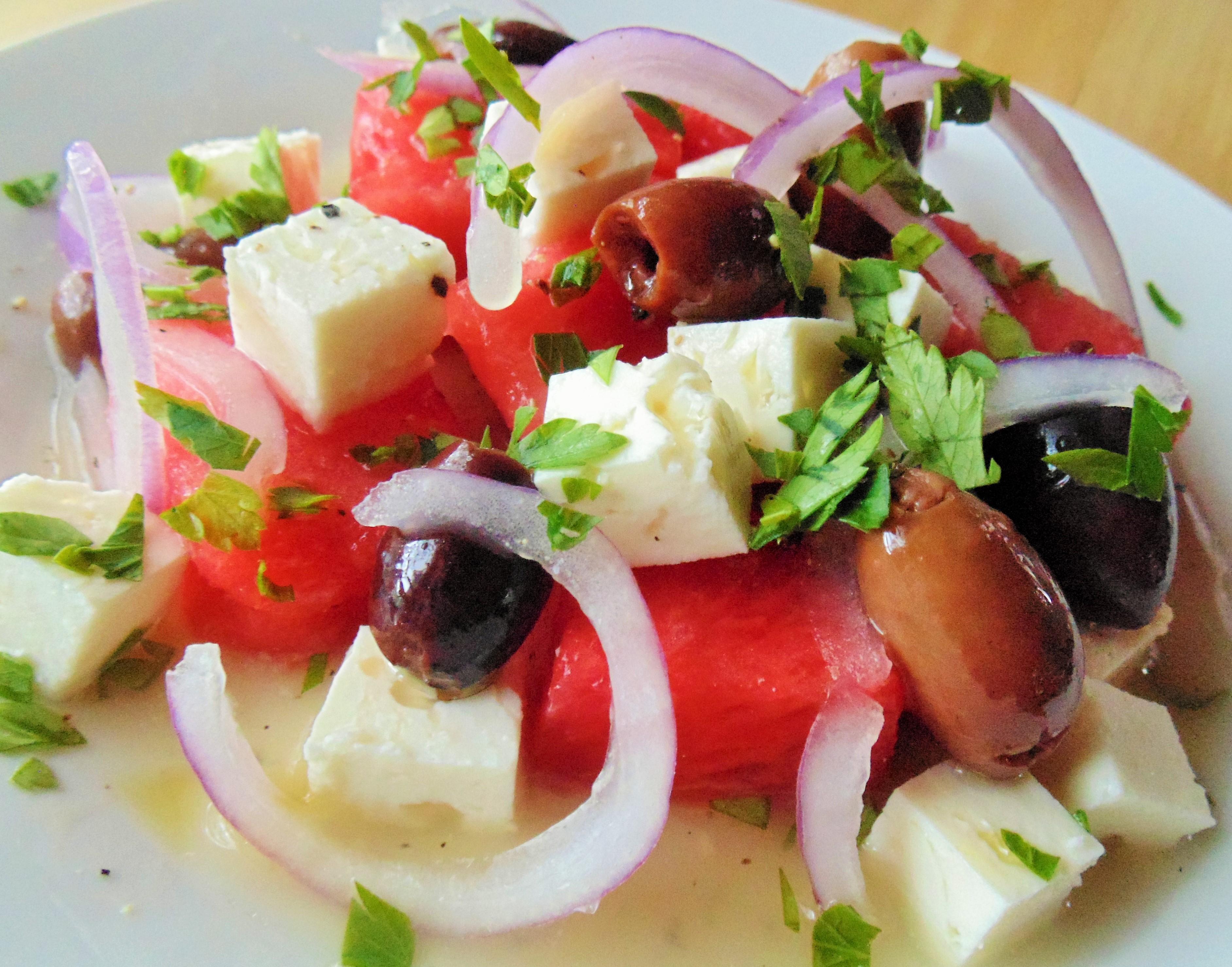 Watermelon and Feta Salad image