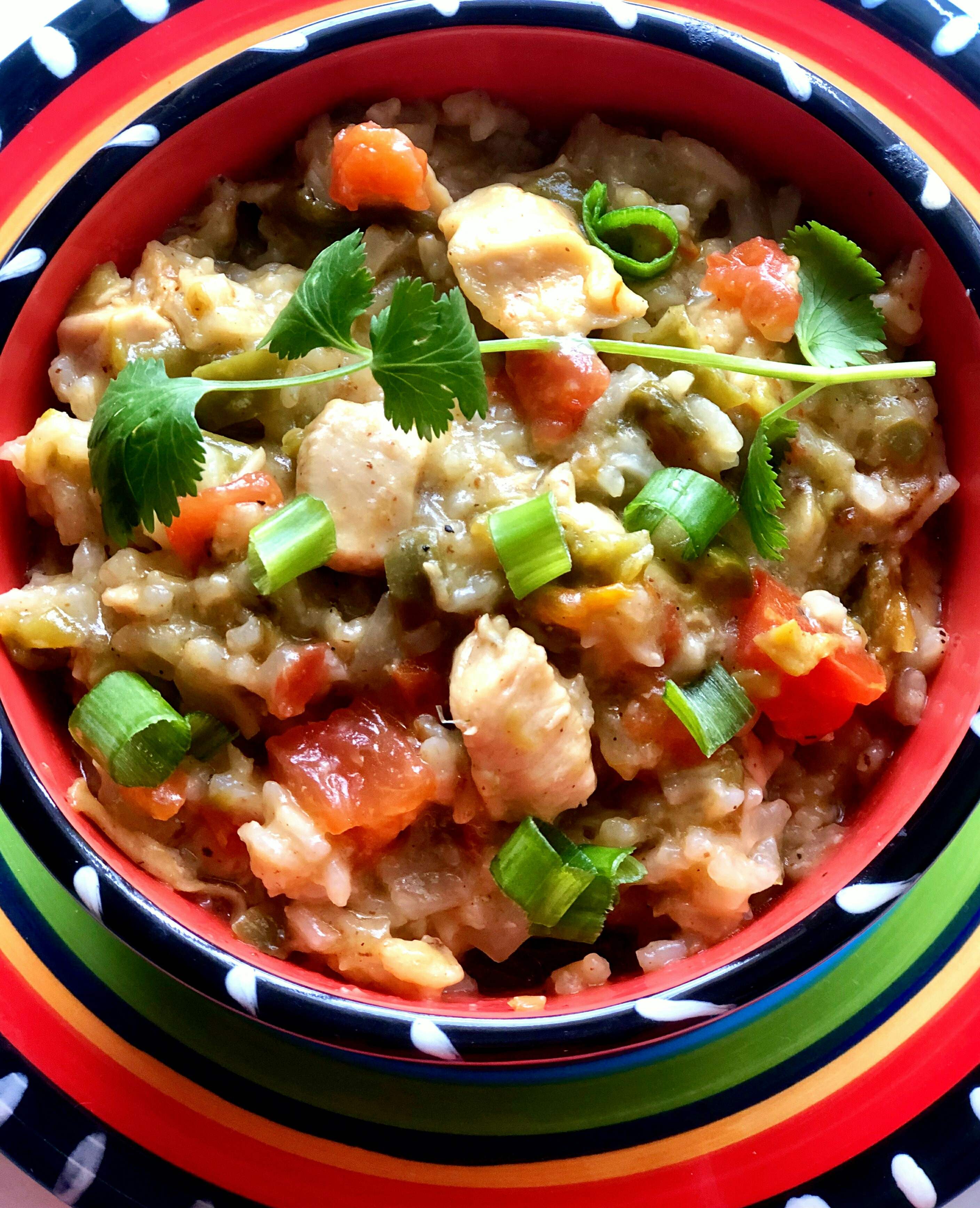 Instant Pot(R) Green Chili Chicken and Rice Huserdaddy