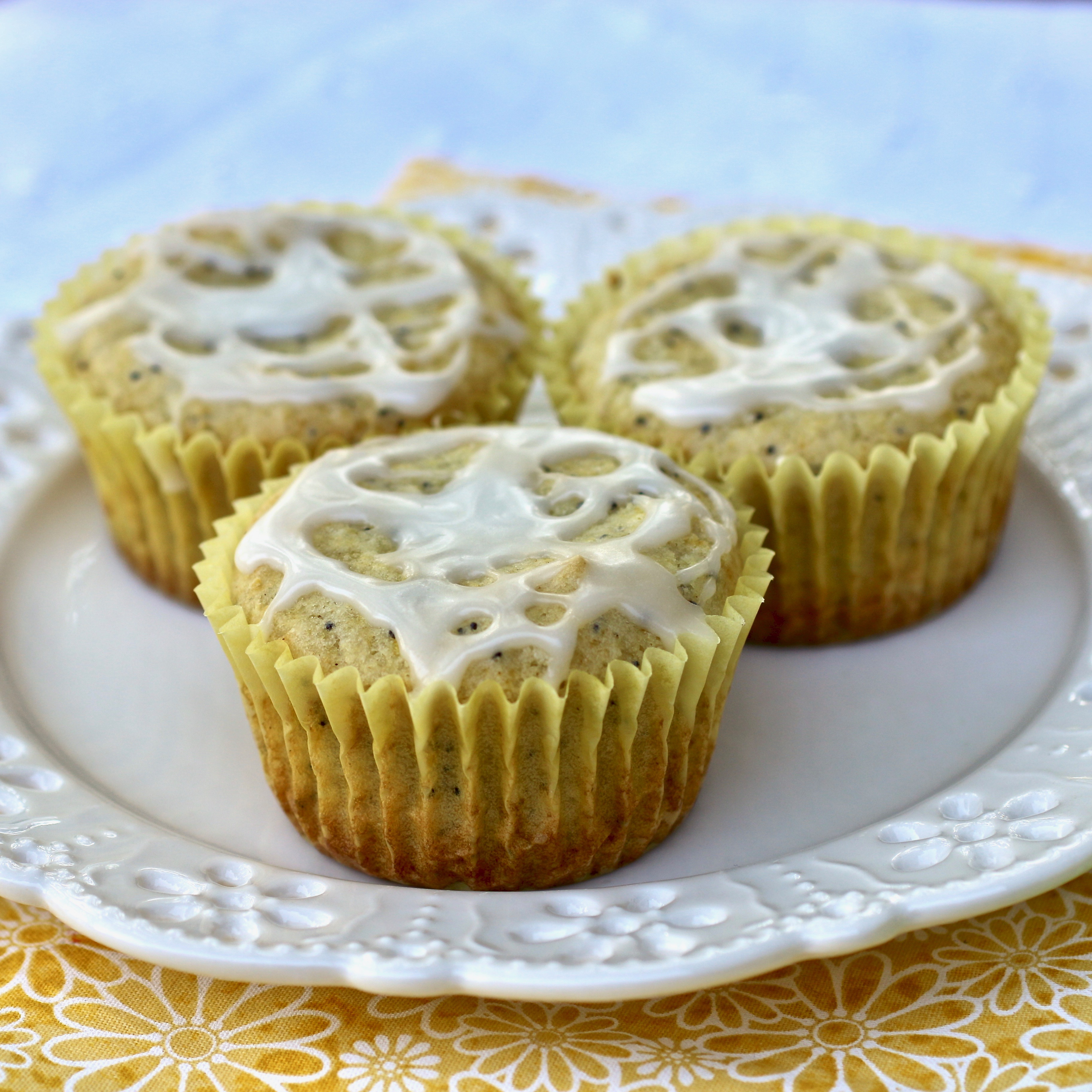 Vegan and Gluten-Free Lemon Poppy Seed Muffins