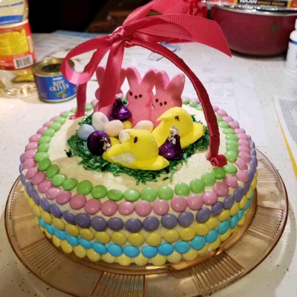 Astonishing Easter Basket Cake Allrecipes Personalised Birthday Cards Paralily Jamesorg