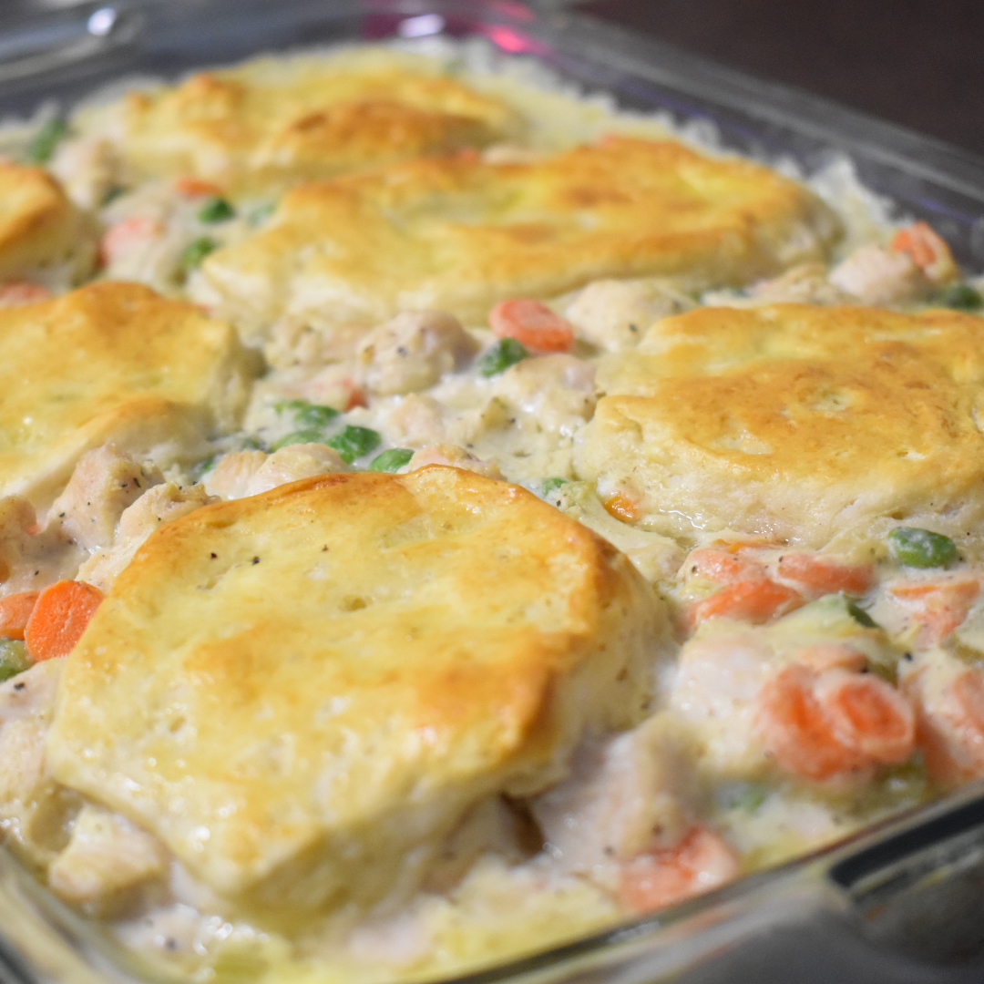 Mom's Fabulous Chicken Pot Pie with Biscuit Crust Pam