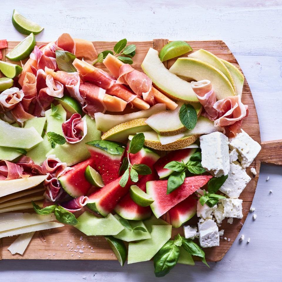 Summer Melon & Cheese Board