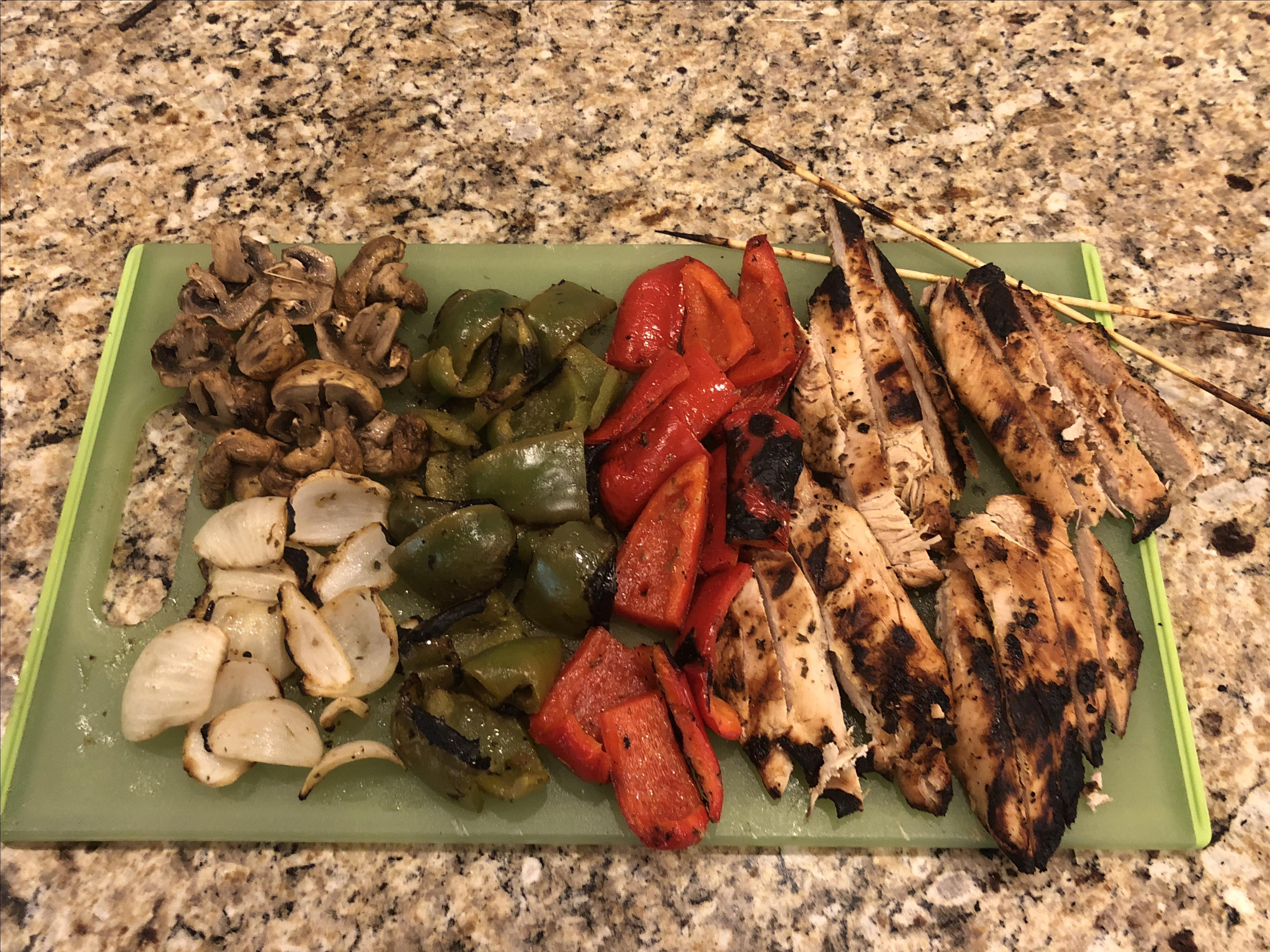 Grilled Tequila-Lime Chicken Fajitas Katester