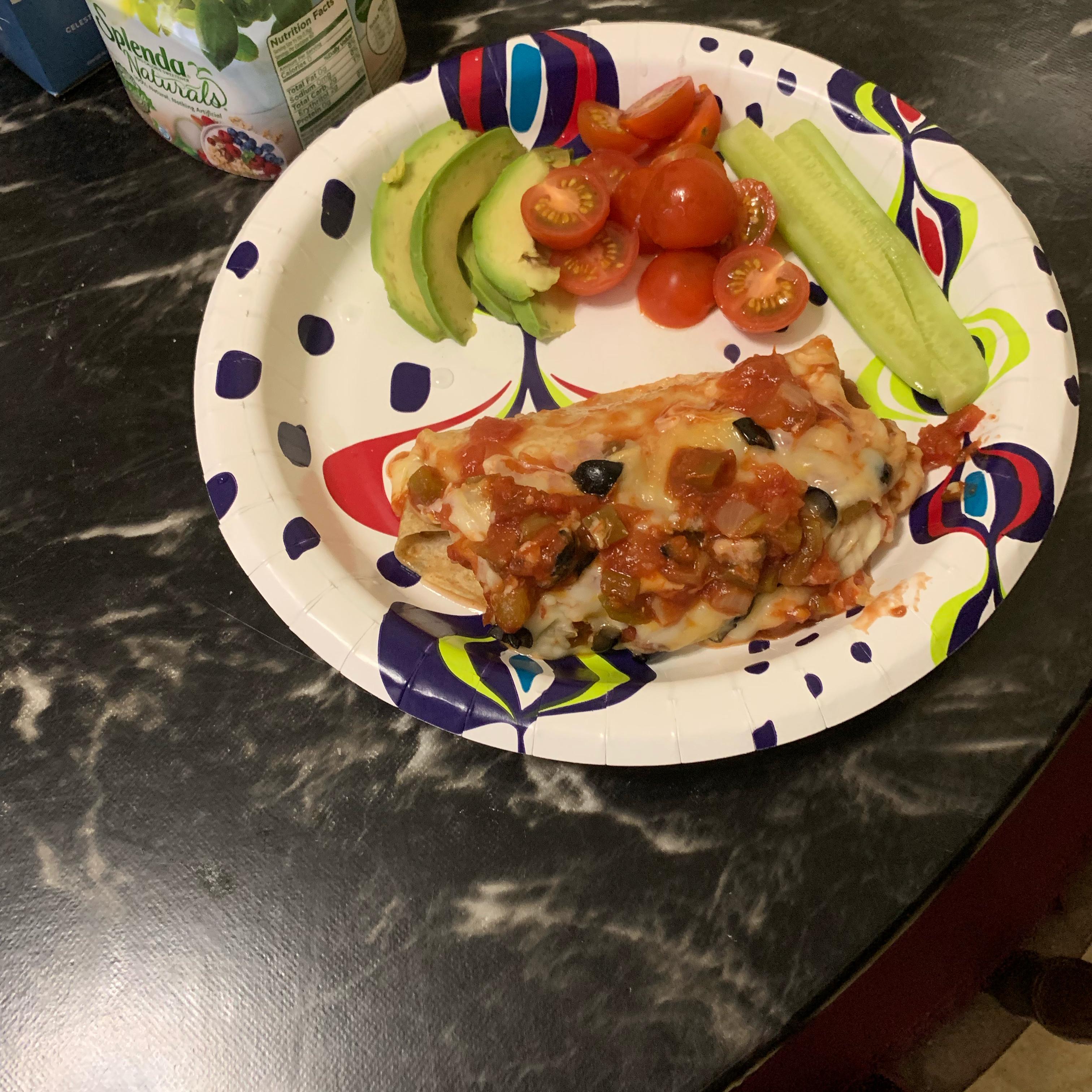 Enchanted Sour Cream Chicken Enchiladas
