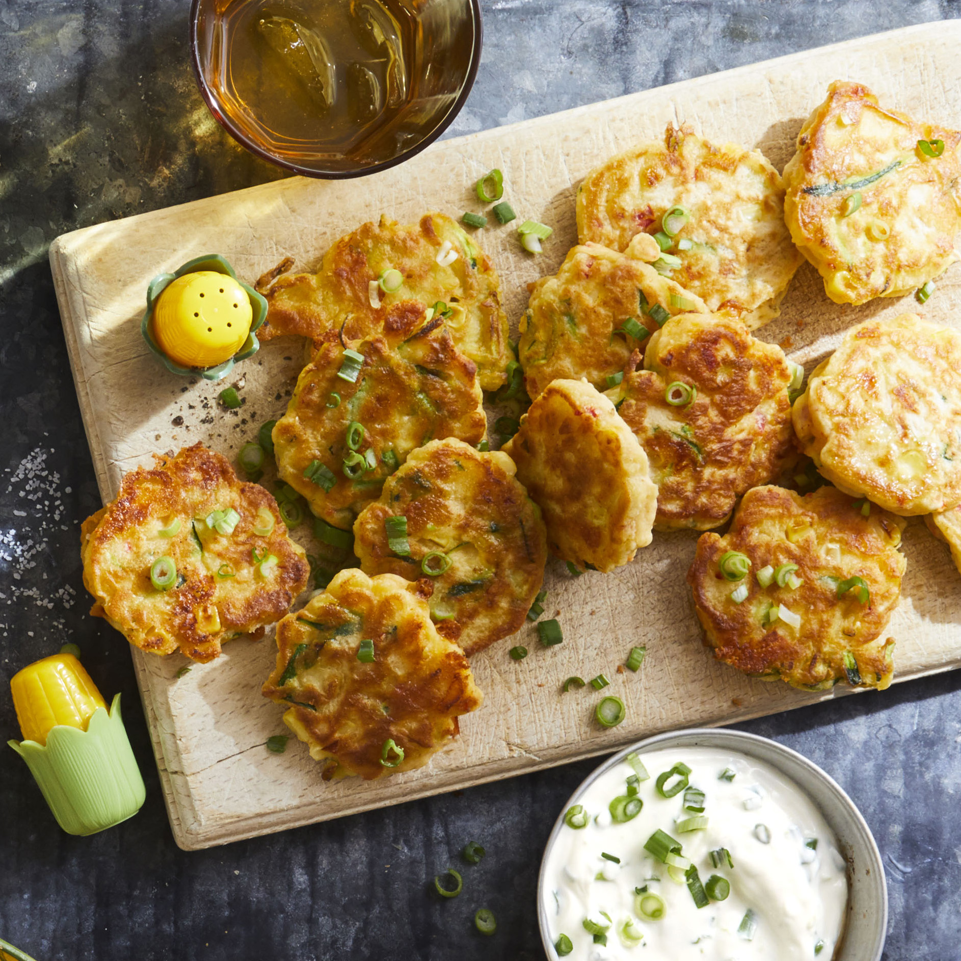 Zucchini Corn Fritters - Printer Friendly