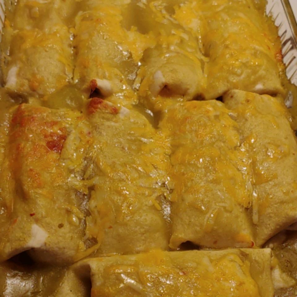 Jalapeno Cream Cheese Chicken Enchiladas