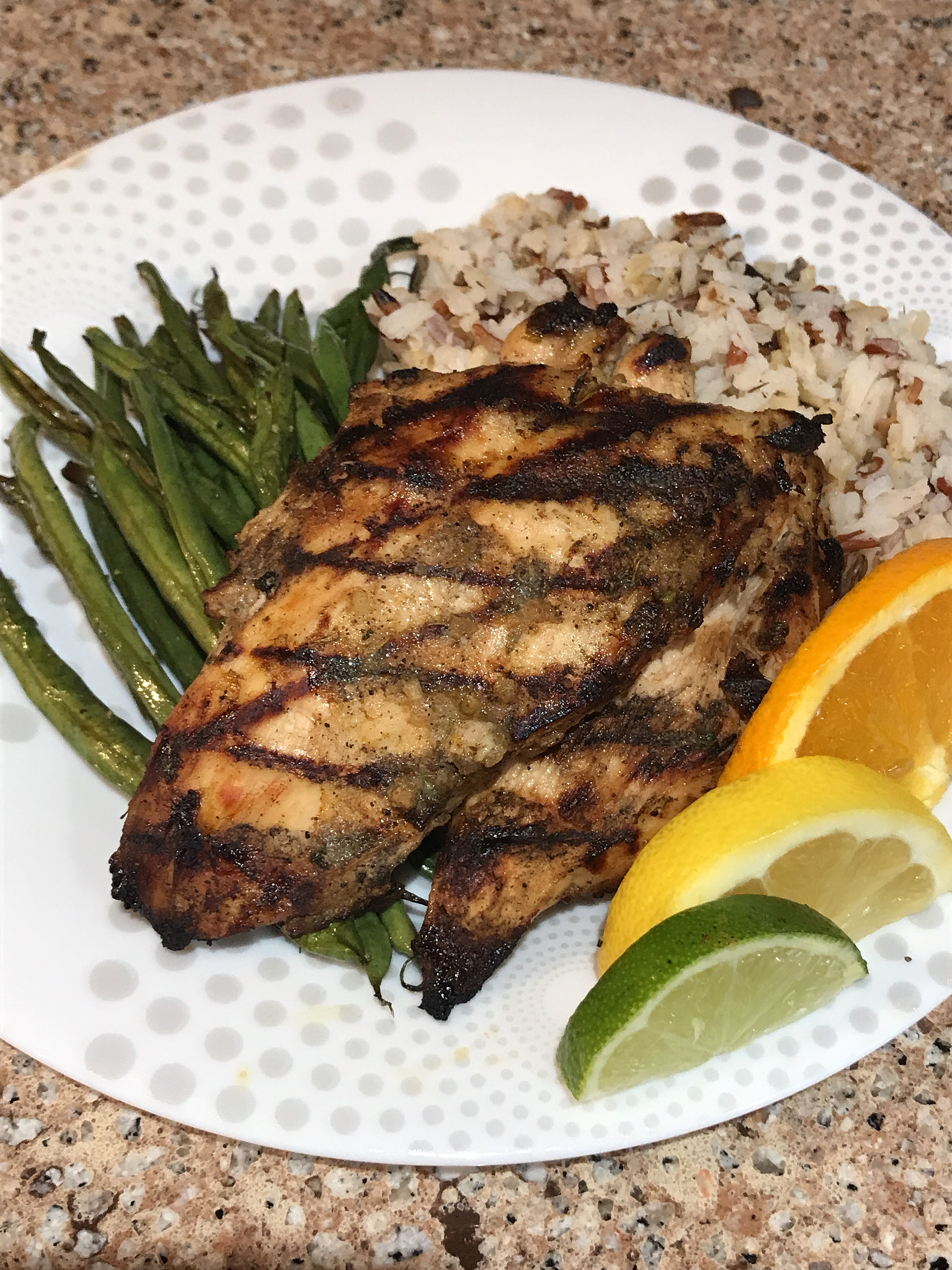 Grilled Citrus Jerk Chicken