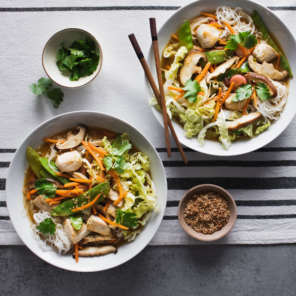 Sesame Chicken Noodle Bowls Recipe Eatingwell