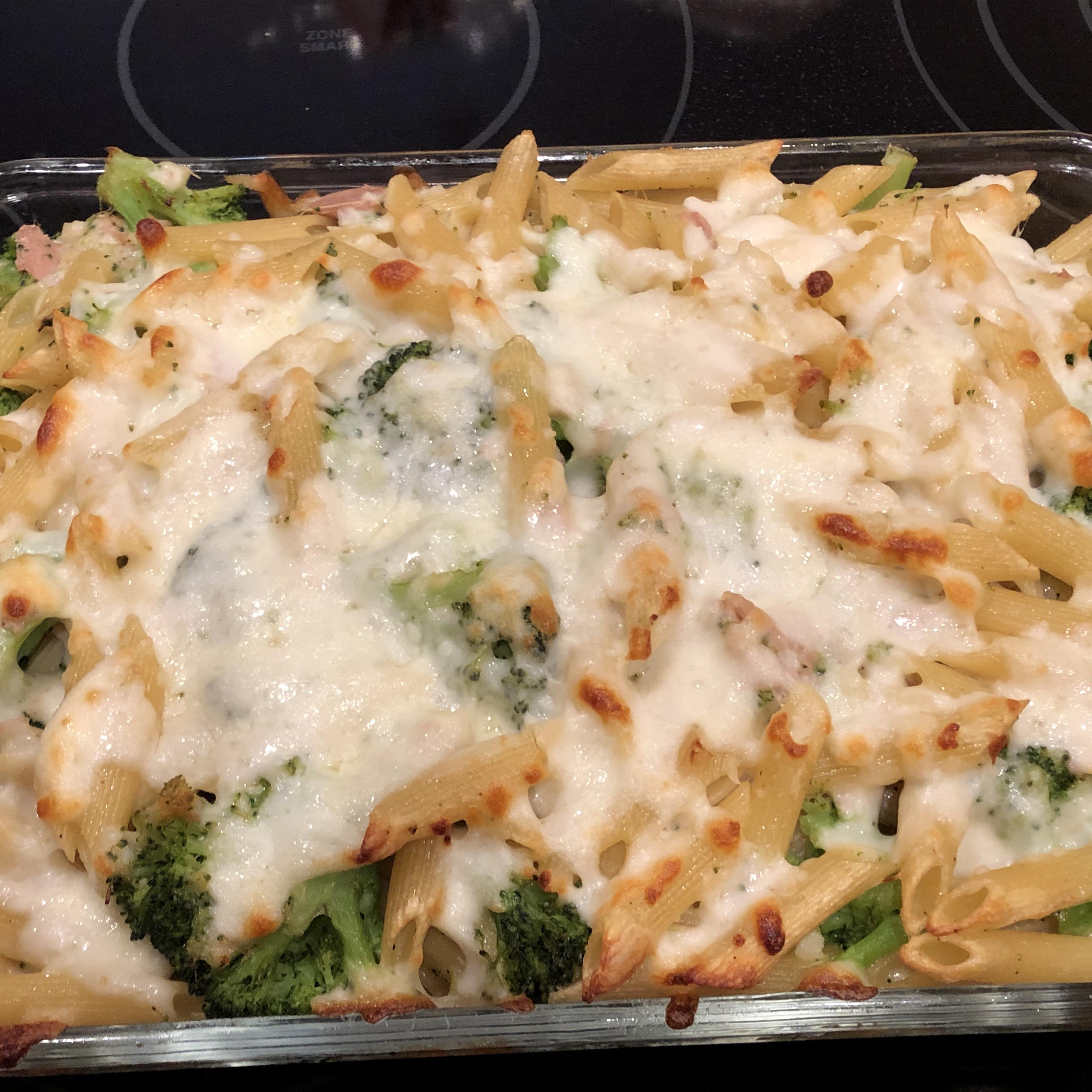 John's Broccoli and Ziti Casserole