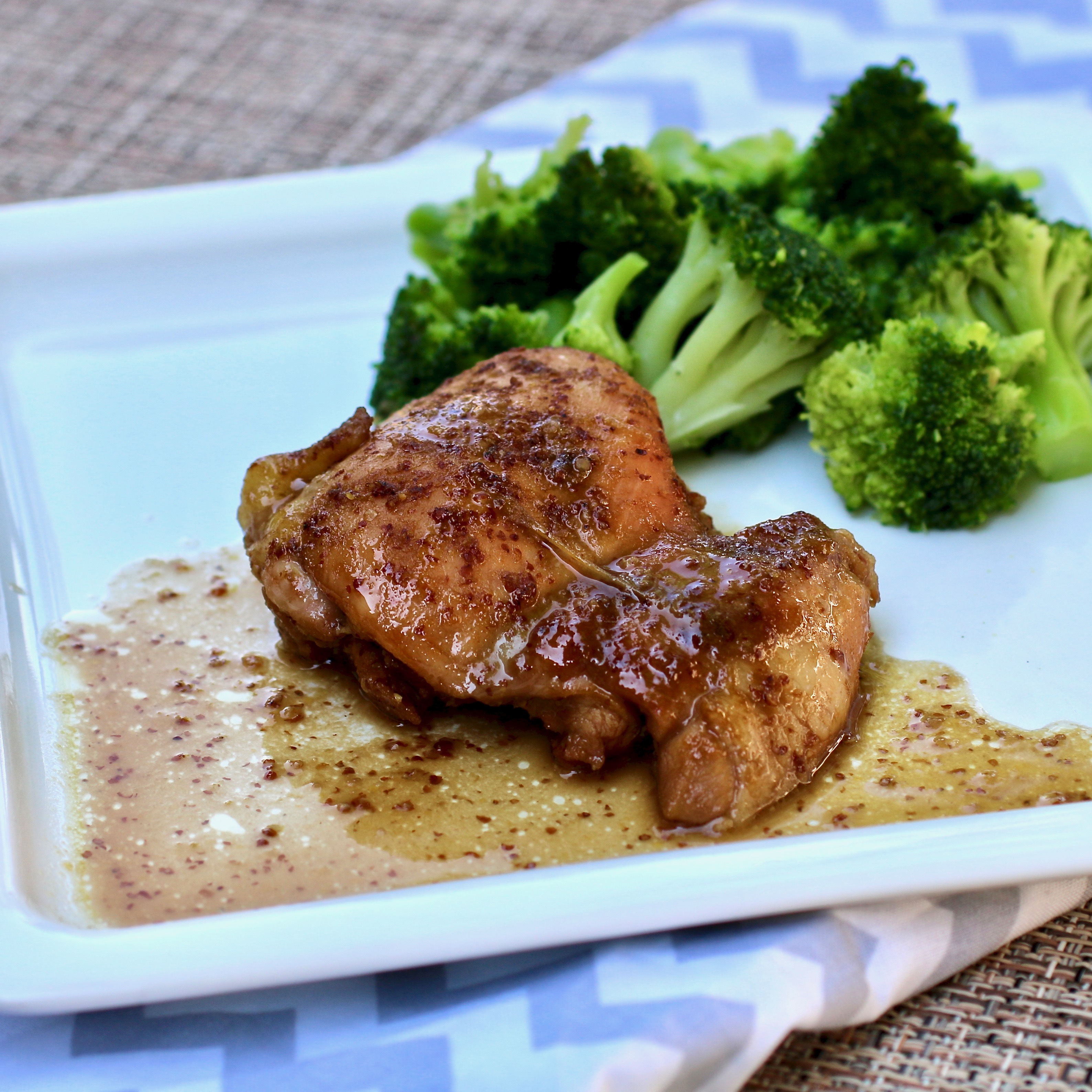 Baked Maple Chicken Thighs
