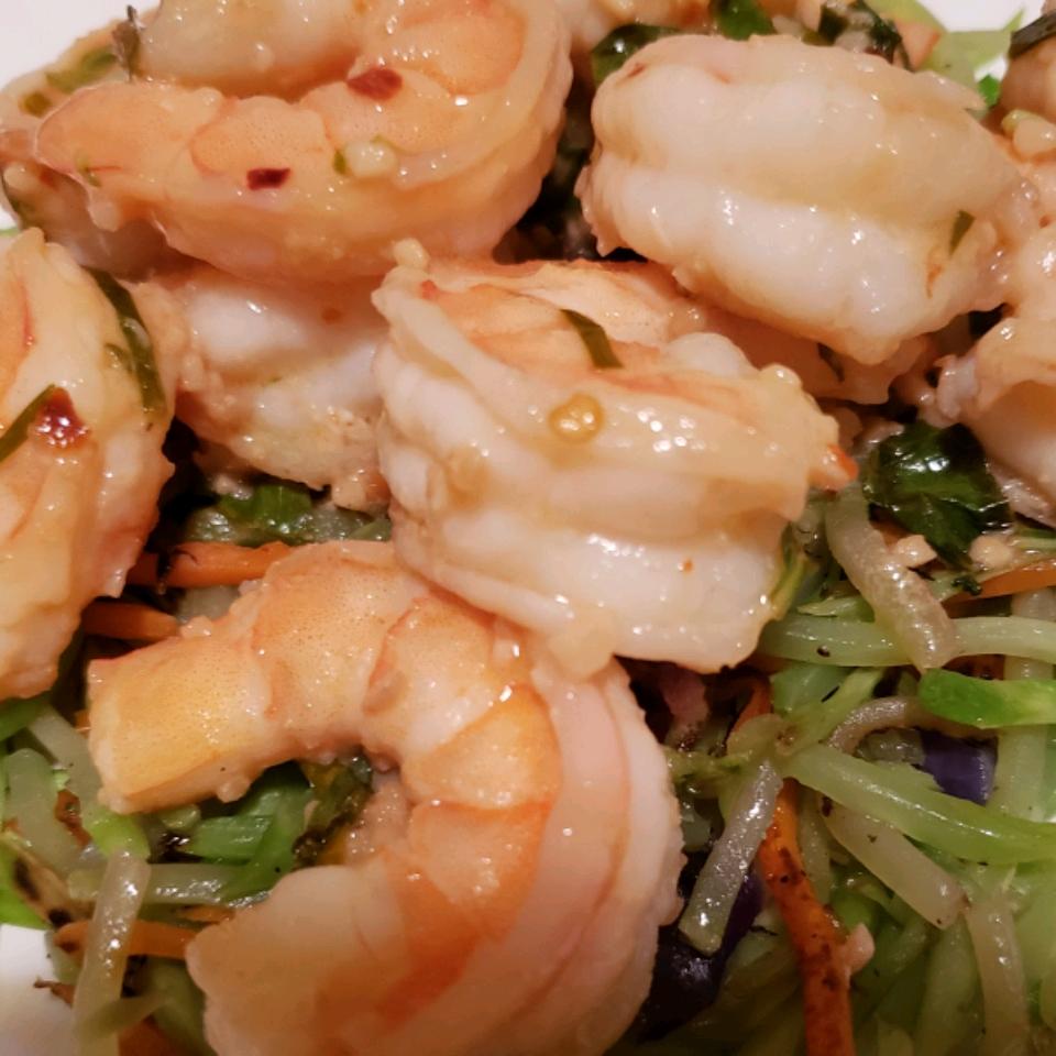 Keto Shrimp Scampi with Broccoli Noodles amber smith