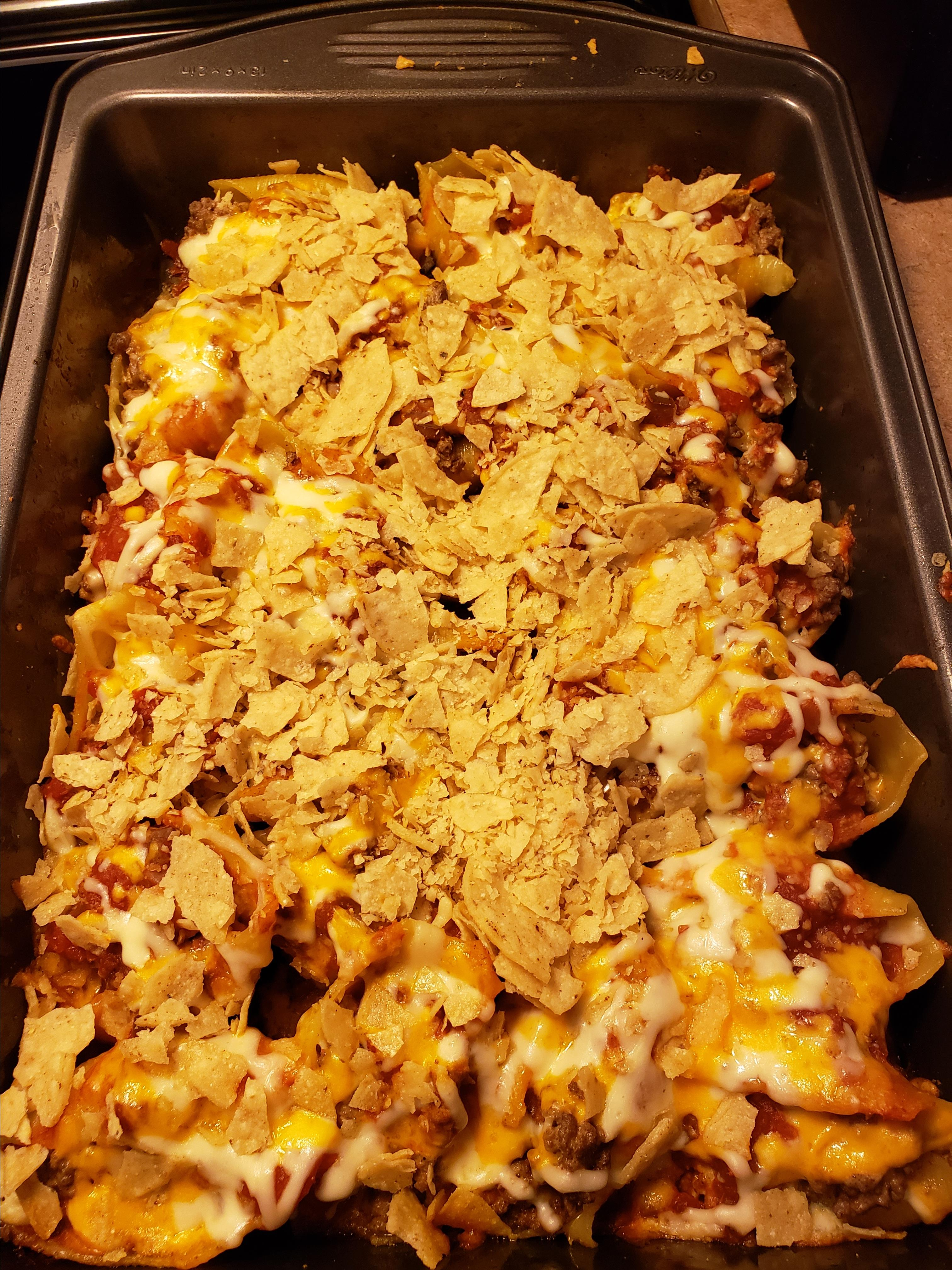 Tacos in Pasta Shells kelly.paton@rogers.com
