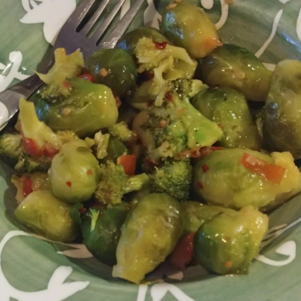 Broccoli and Brussels Sprout Delight sandra
