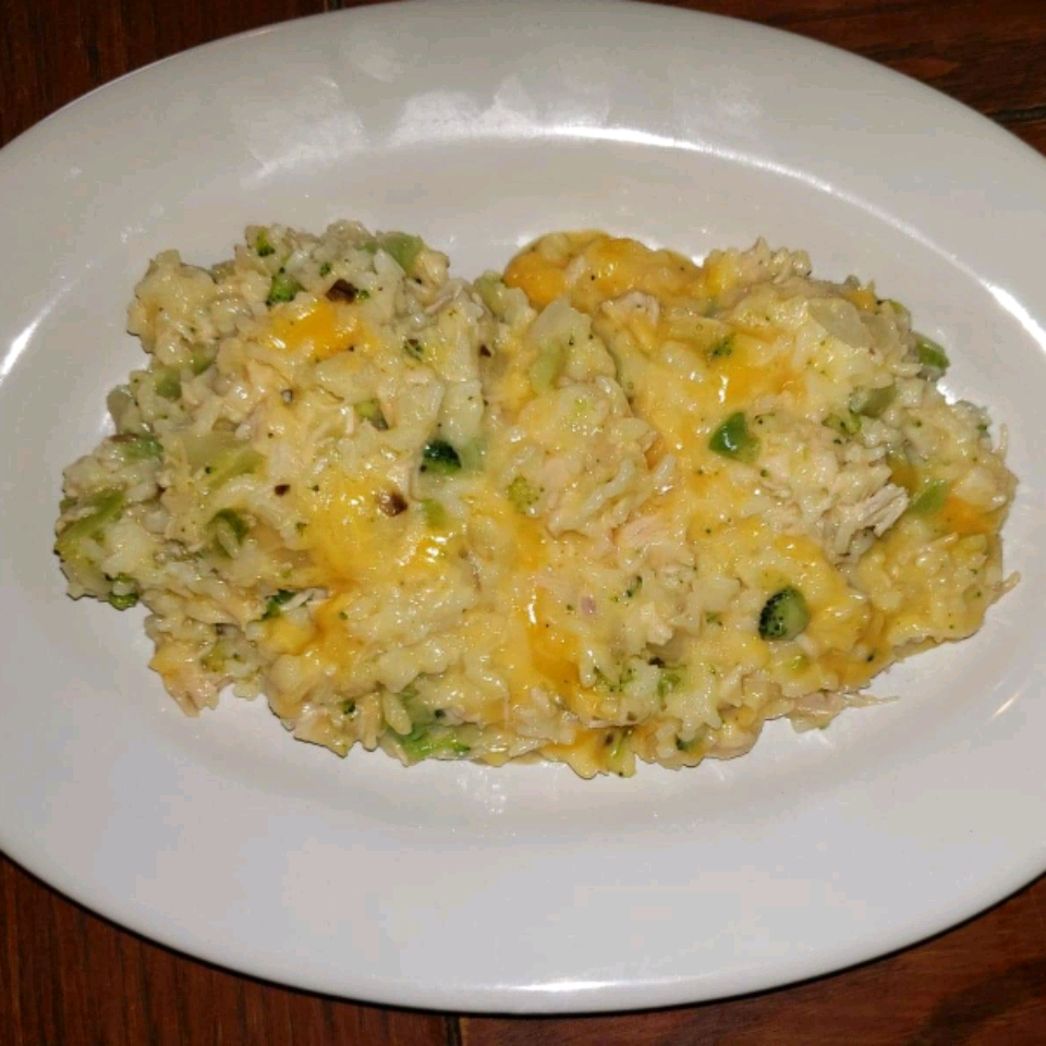 Broccoli, Rice, Cheese, and Chicken Casserole Angela Raines