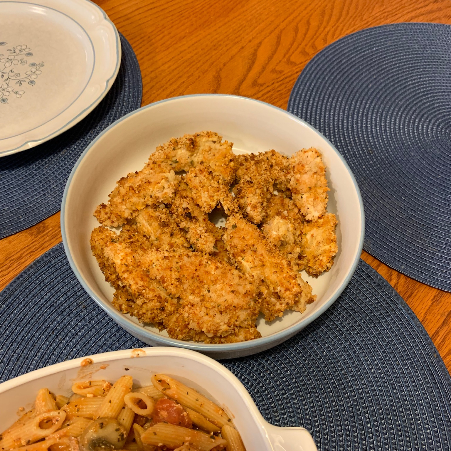 Baked Chicken Strips with Dijon and Panko Coating pianogirl28