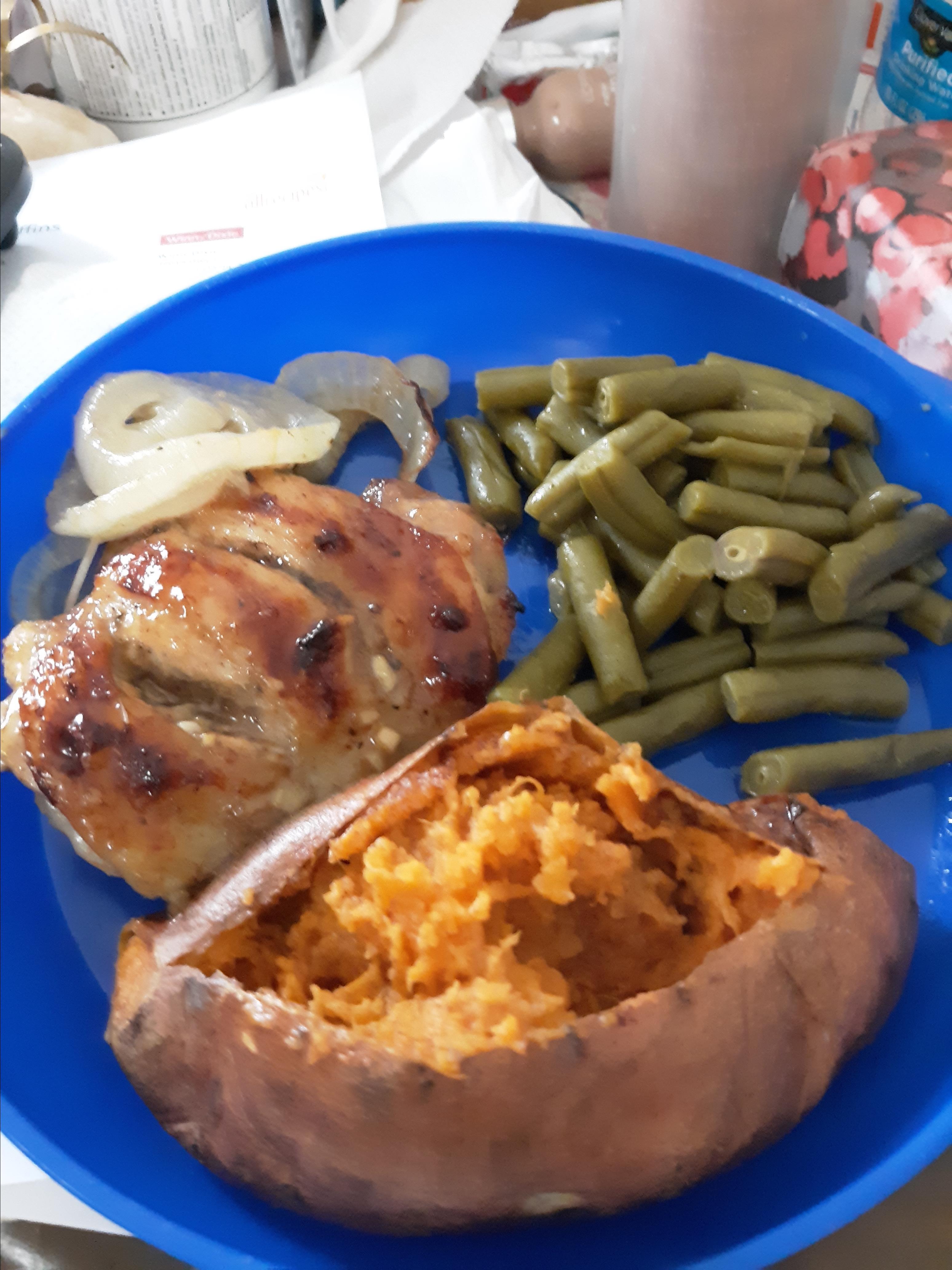 Sweet Hot Mustard Chicken Thighs Susan J Ellis