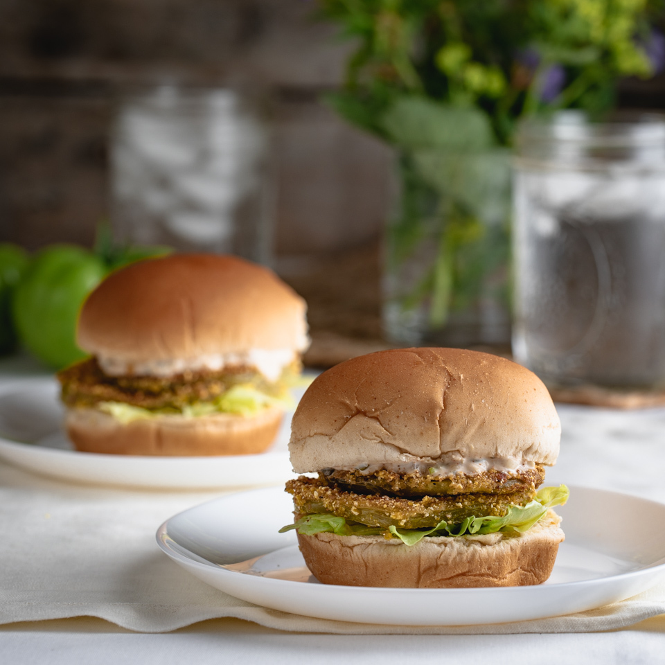 Fried Green Tomato Sandwiches with Remoulade Sauce EatingWell Test Kitchen